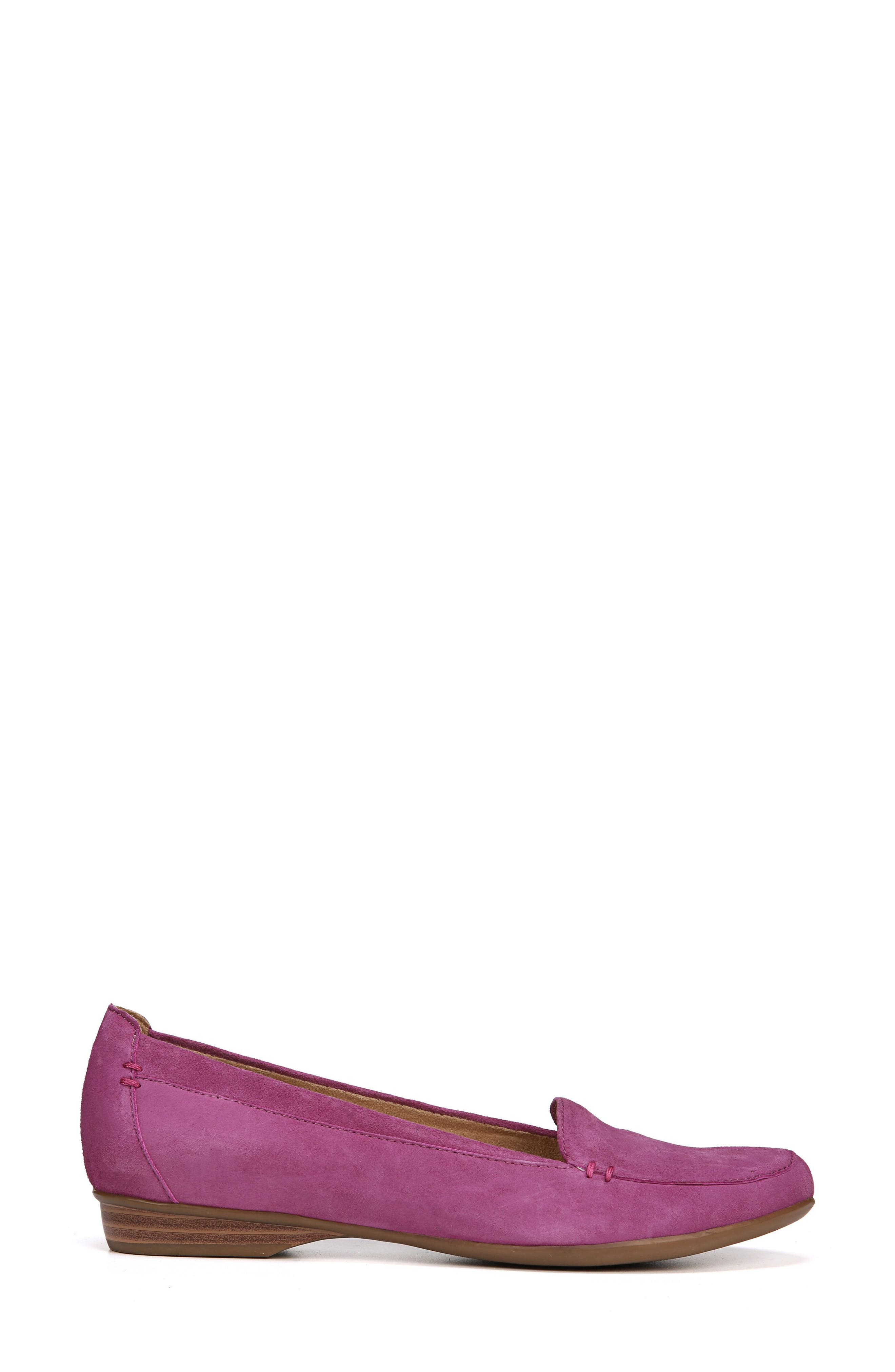 'Saban' Leather Loafer,                             Alternate thumbnail 3, color,                             Radiant Orchid Suede