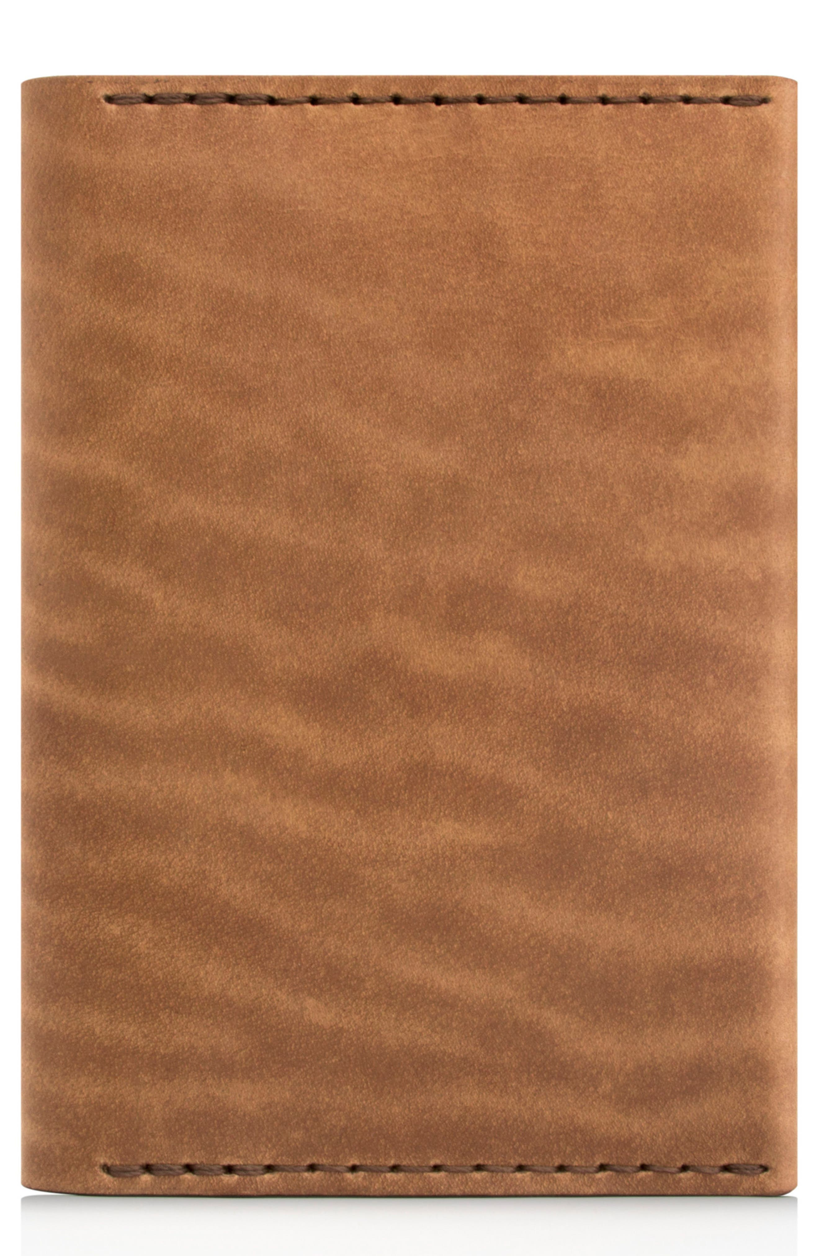 Leather Passport Wallet,                             Main thumbnail 1, color,                             Whiskey
