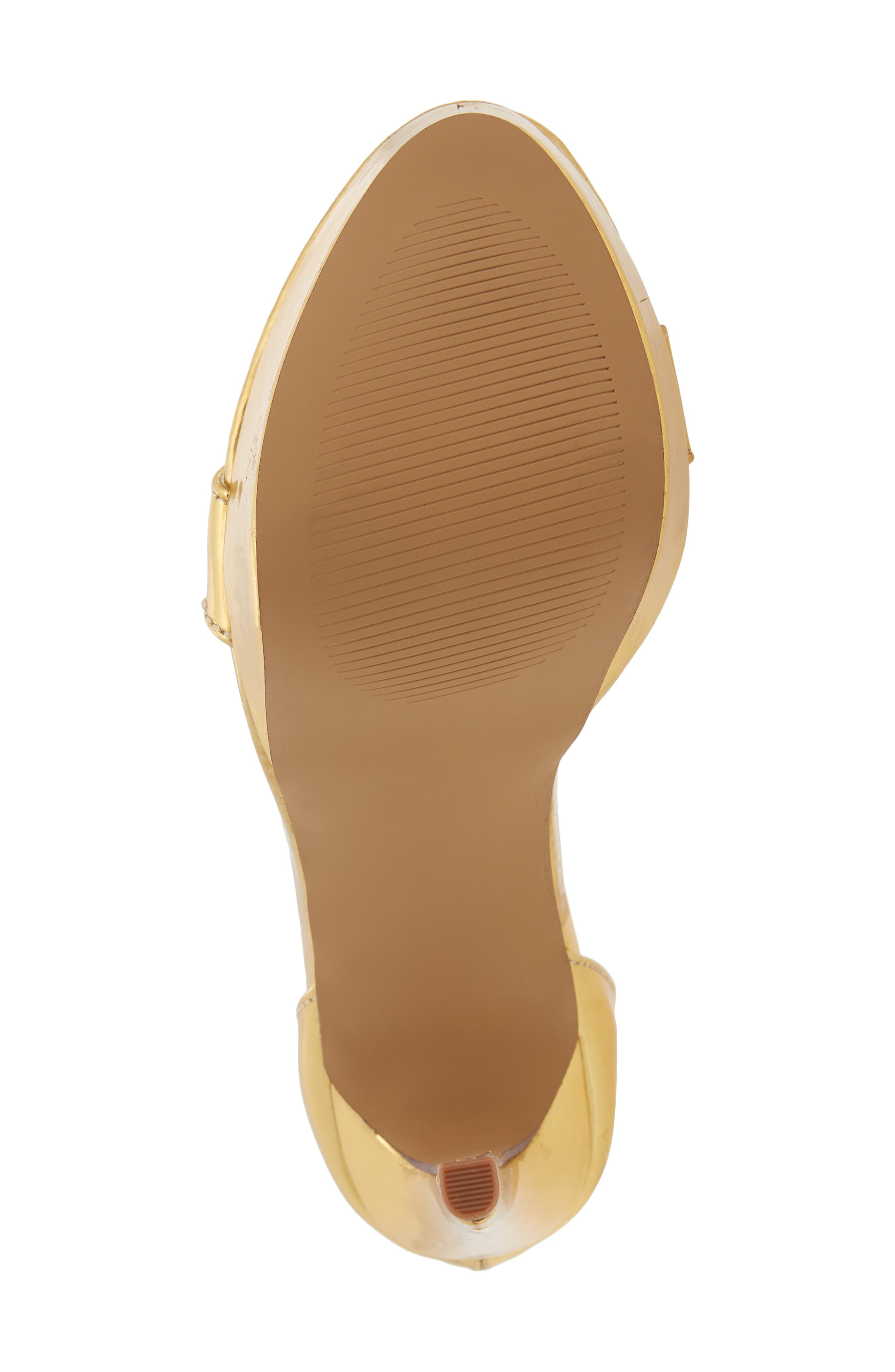 Darlene Platform Sandal,                             Alternate thumbnail 6, color,                             Gold