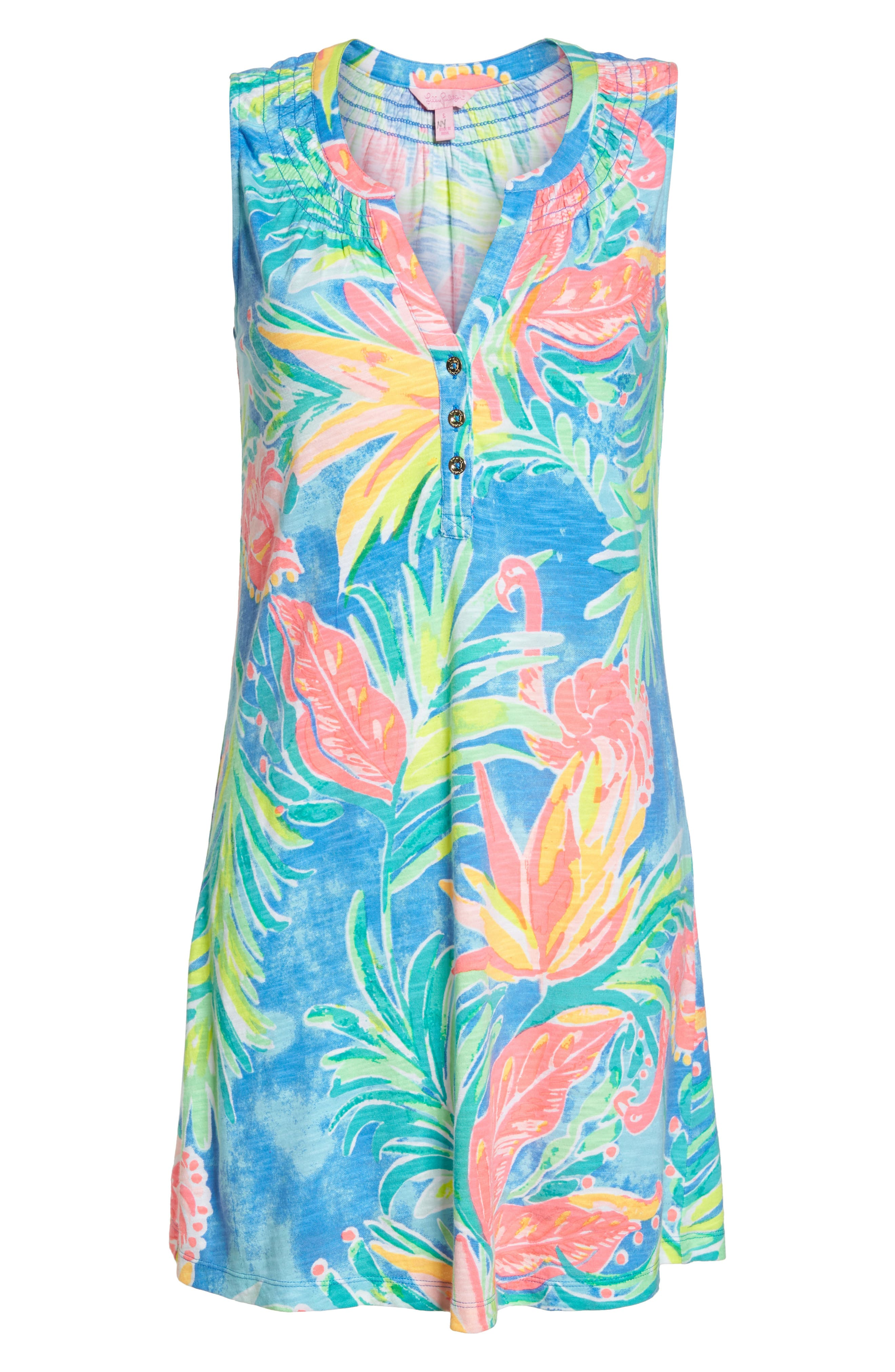 Essie Shift Dress,                             Alternate thumbnail 6, color,                             Bennet Blue Showstopper