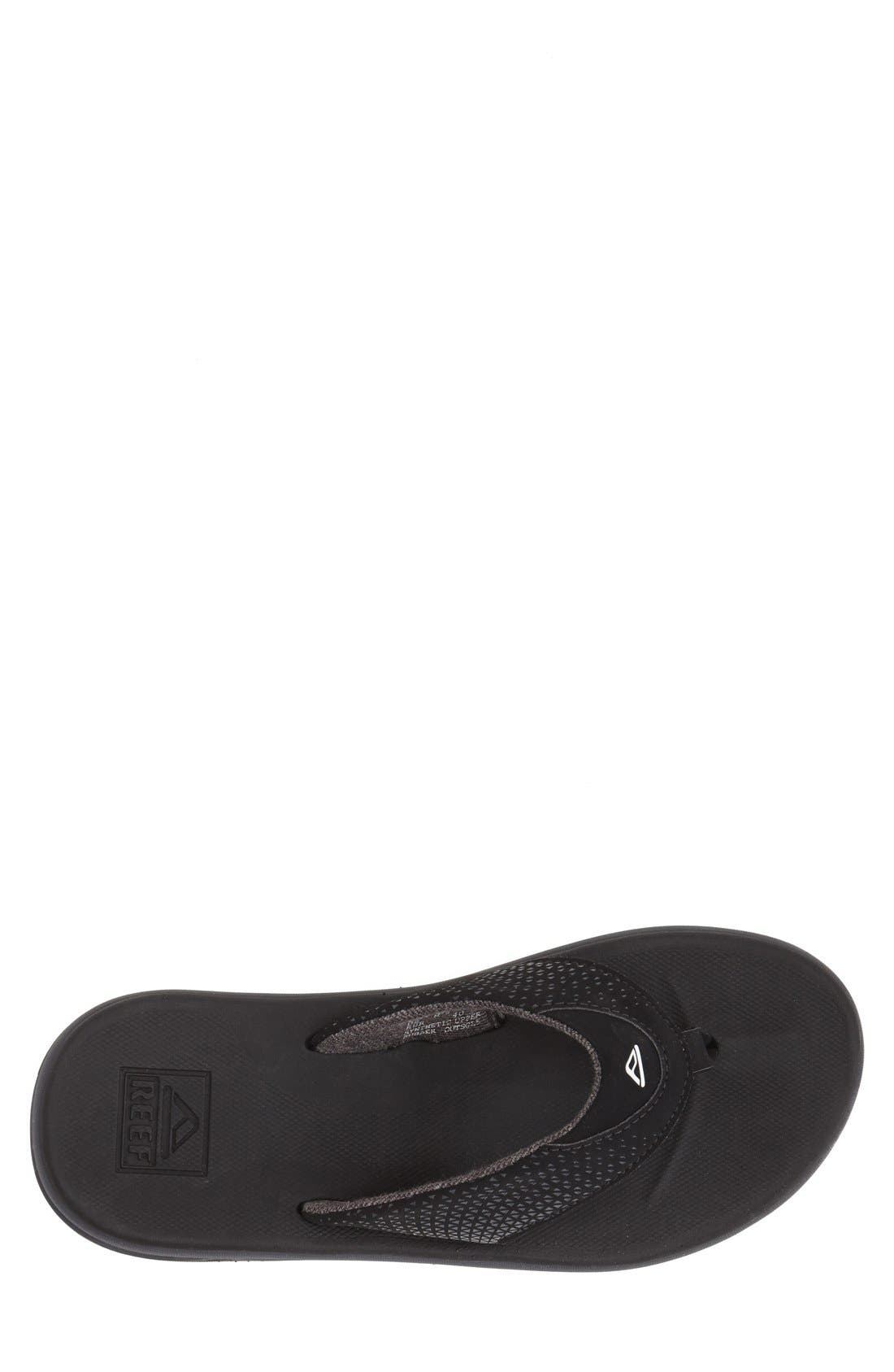 'Rover' Flip Flop,                             Alternate thumbnail 3, color,                             Black