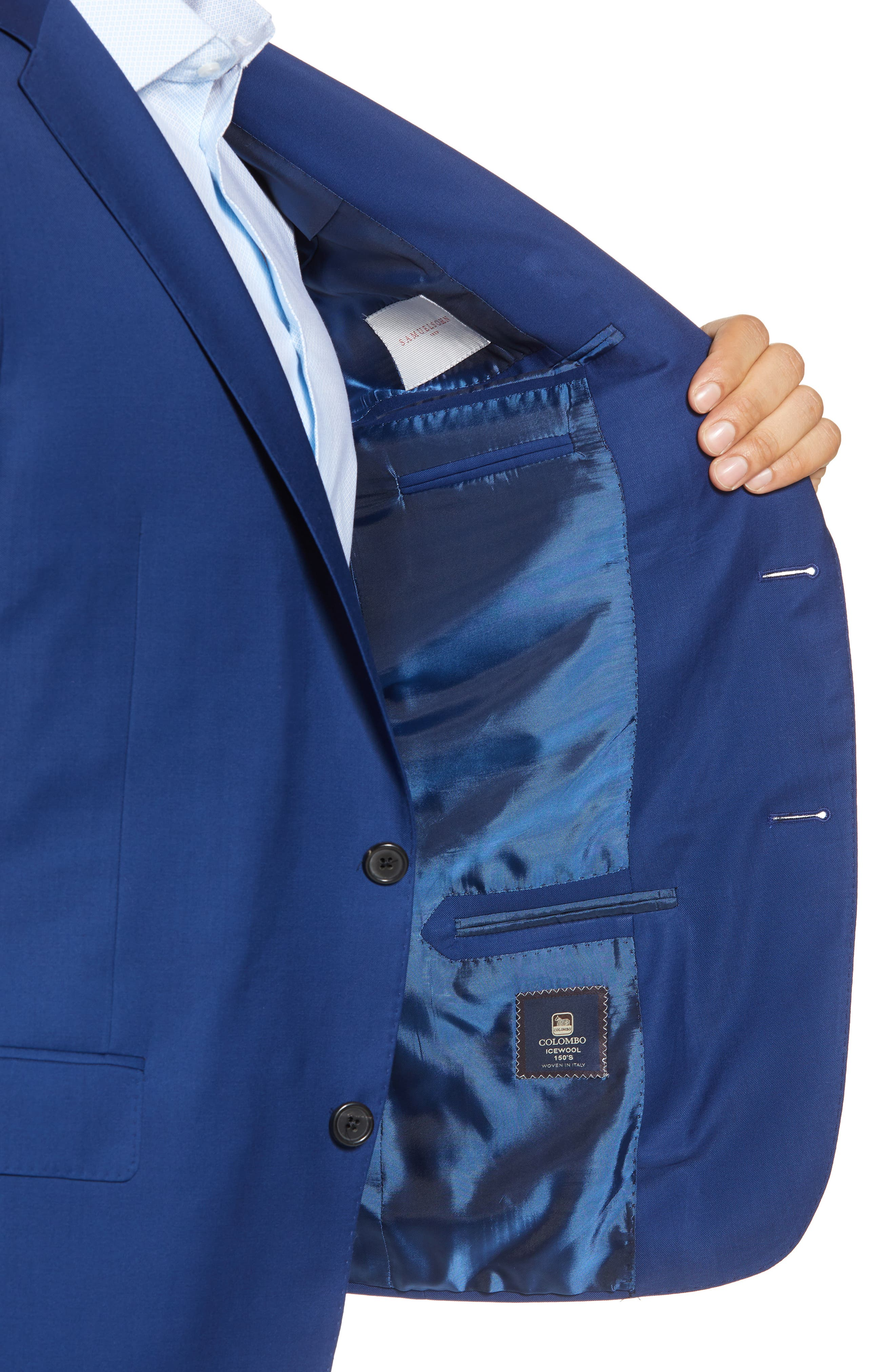 Bennet Classic Fit Solid Wool Suit,                             Alternate thumbnail 4, color,                             High Blue