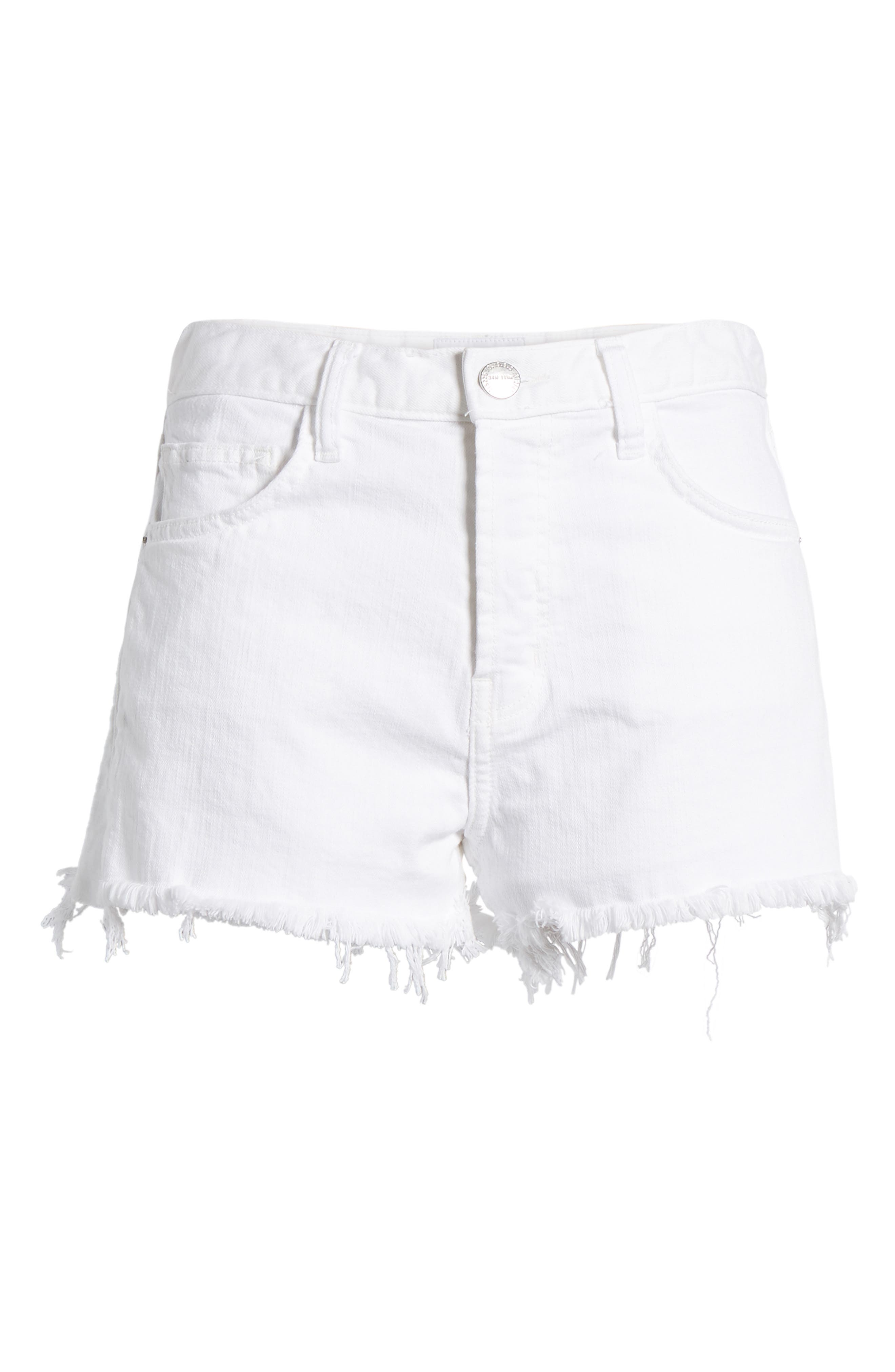 The Ultra High Waist Cutoff Denim Shorts,                             Alternate thumbnail 7, color,                             Sugar W/ Mishap Hem
