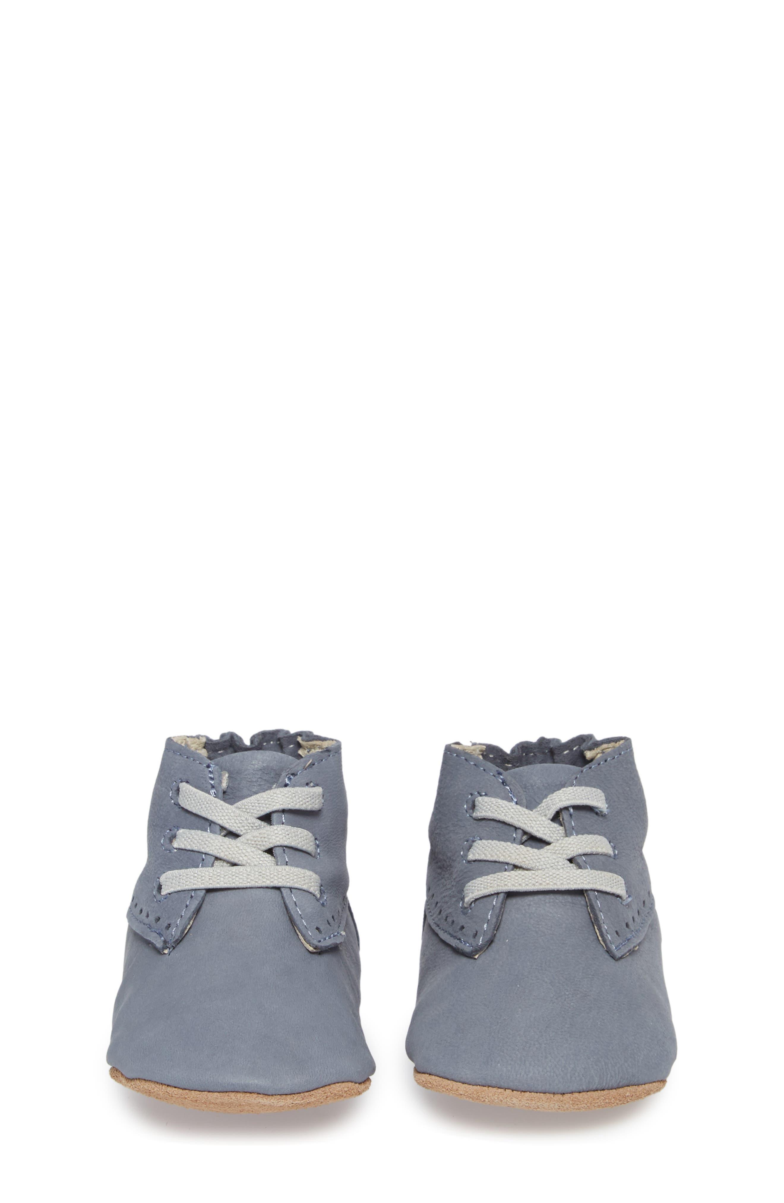 William Chukka Boot Crib Shoe,                             Alternate thumbnail 4, color,                             Blue
