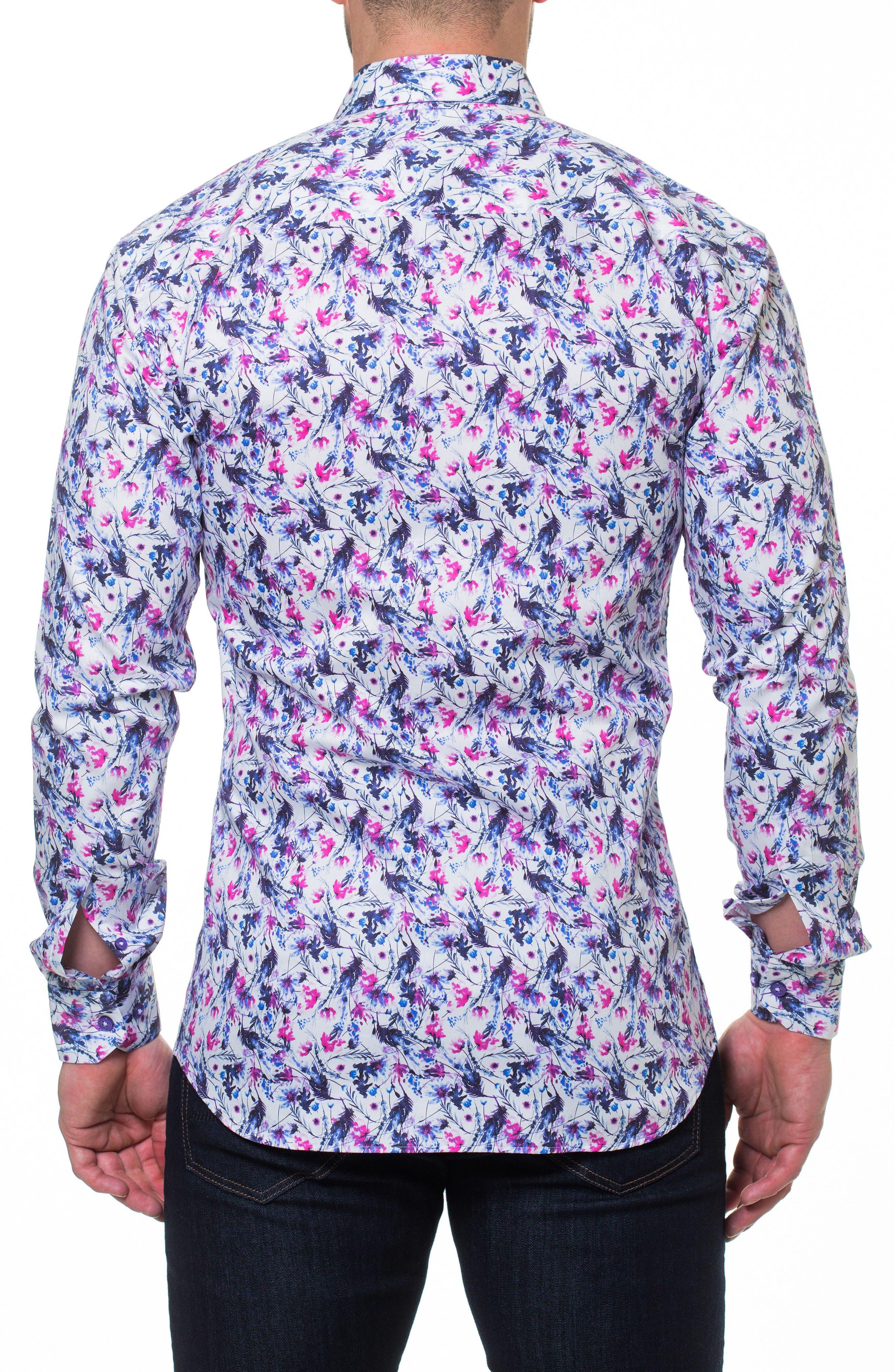 Luxor Home Slim Fit Sport Shirt,                             Alternate thumbnail 2, color,                             Pink