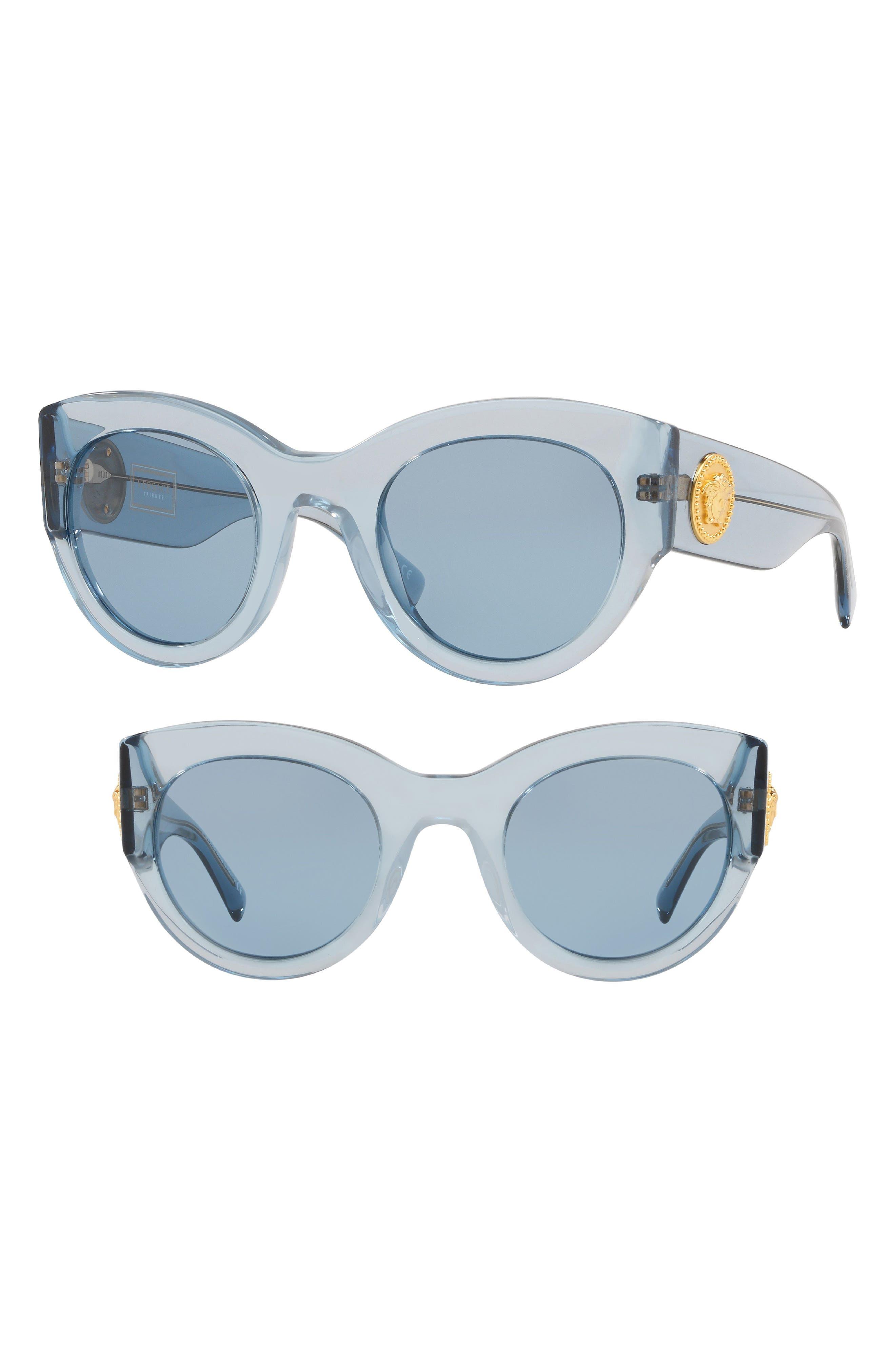 Versace Tribute 51mm Cat Eye Sunglasses