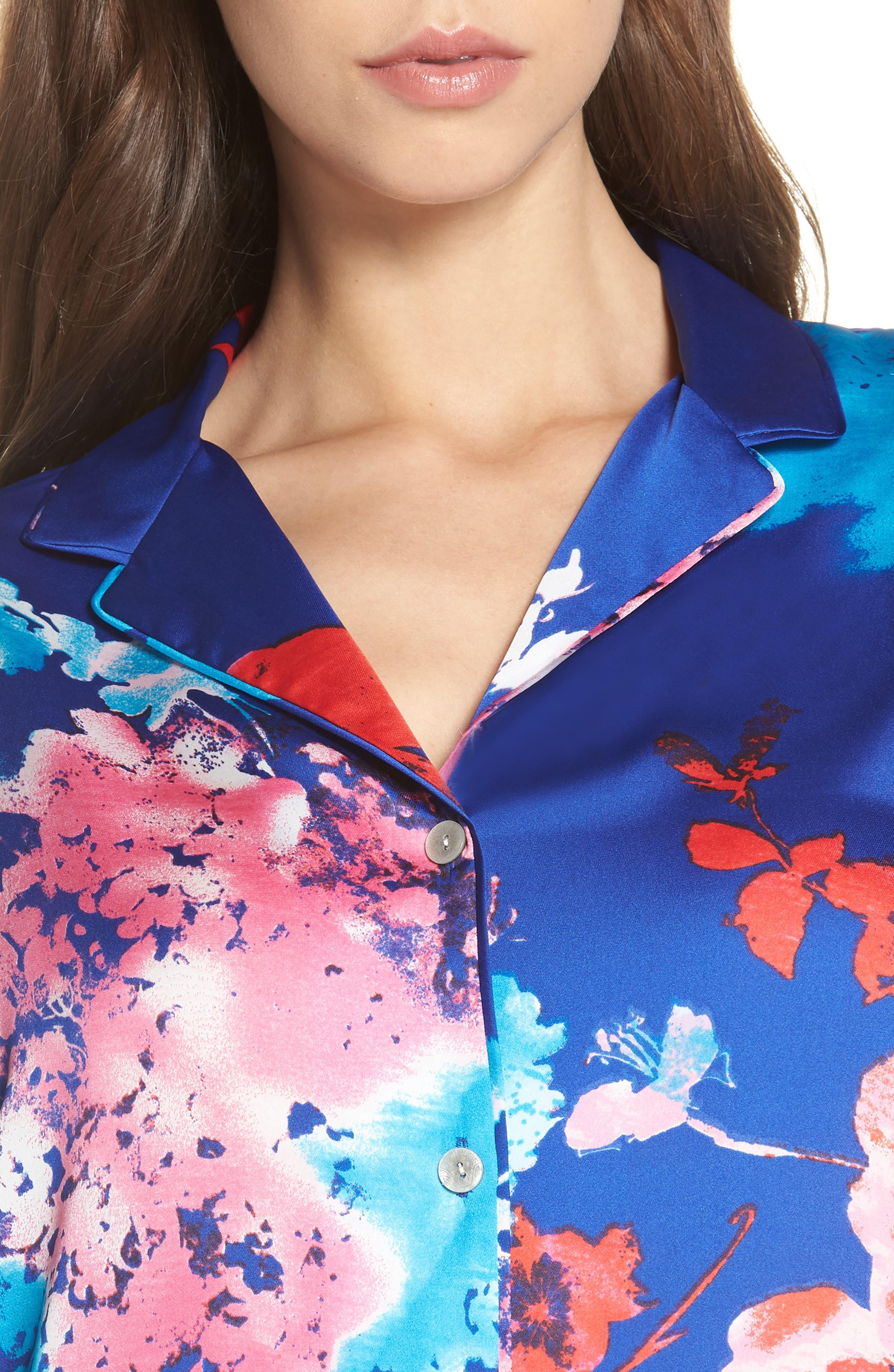 Fiji Short Pajamas,                             Alternate thumbnail 4, color,                             Cobalt
