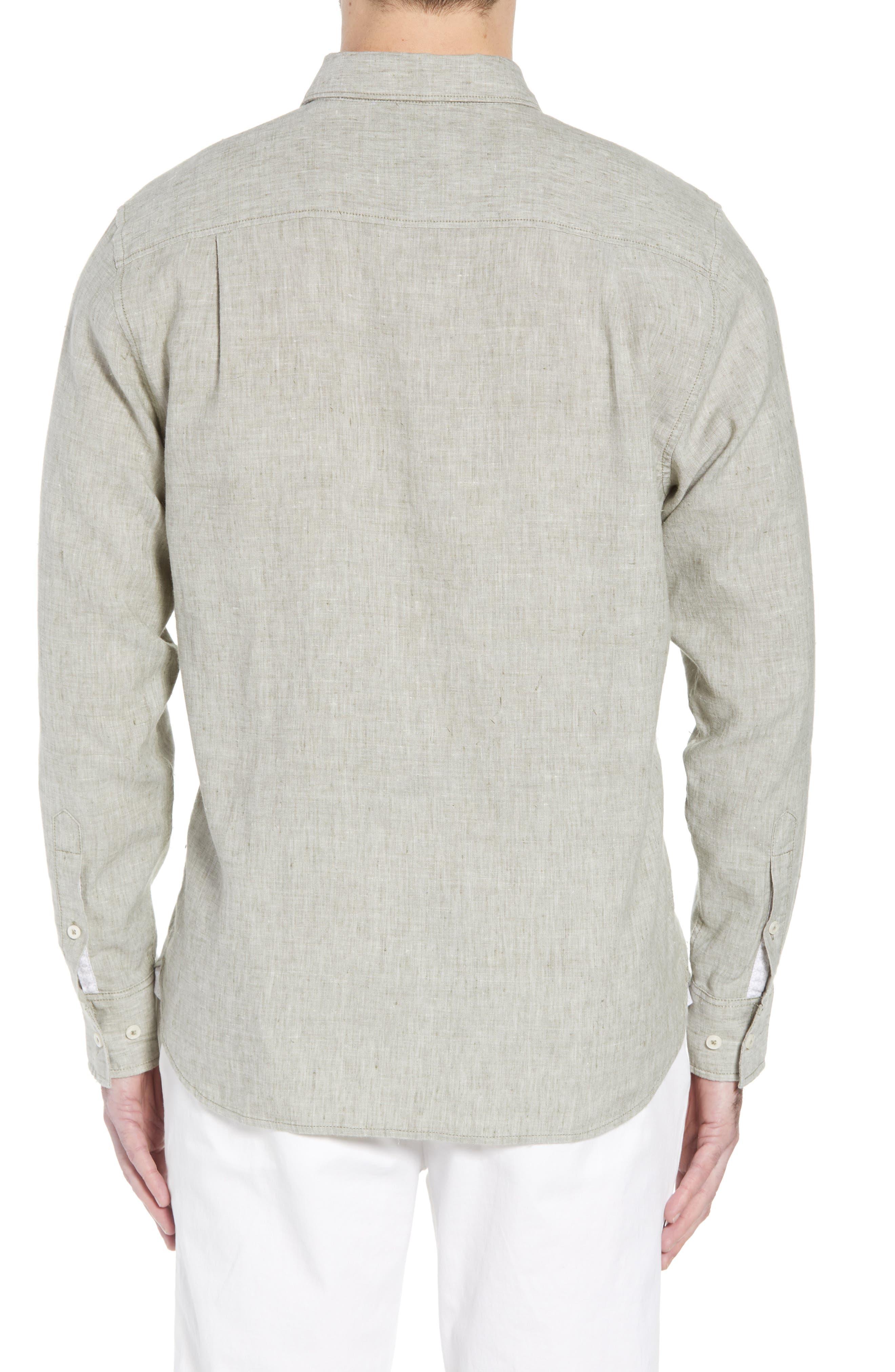 Alternate Image 2  - Tommy Bahama Lanai Tides Regular Fit Linen Blend Sport Shirt