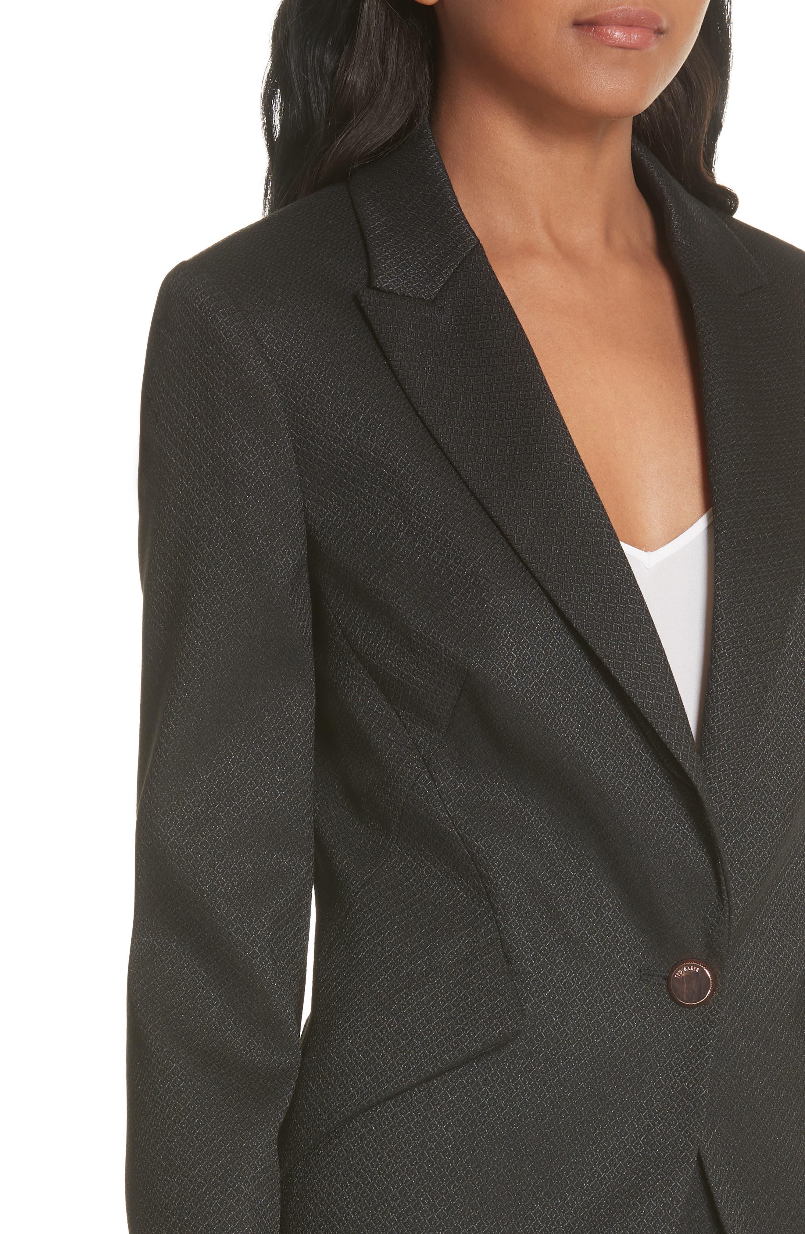 Textured Jacket,                             Alternate thumbnail 4, color,                             Black