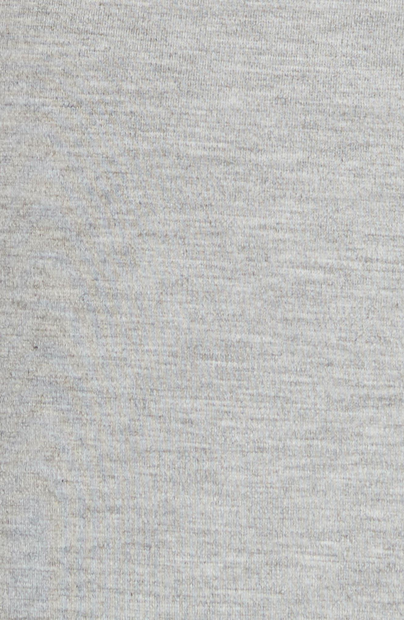 Evalina Tie Front Dress,                             Alternate thumbnail 5, color,                             Grey Marl