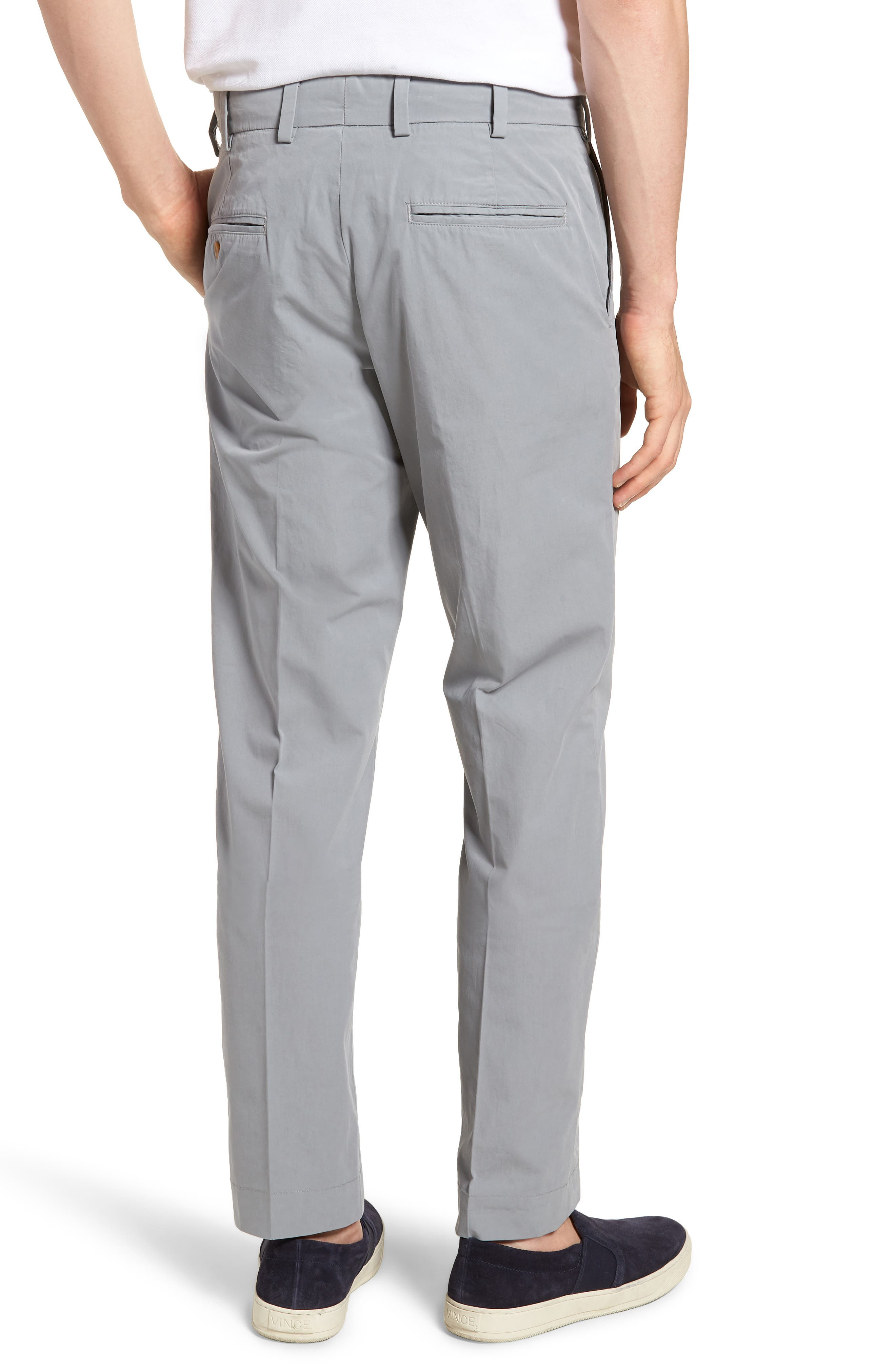 M3 Straight Fit Flat Front Tropical Poplin Pants,                             Alternate thumbnail 2, color,                             Nickel
