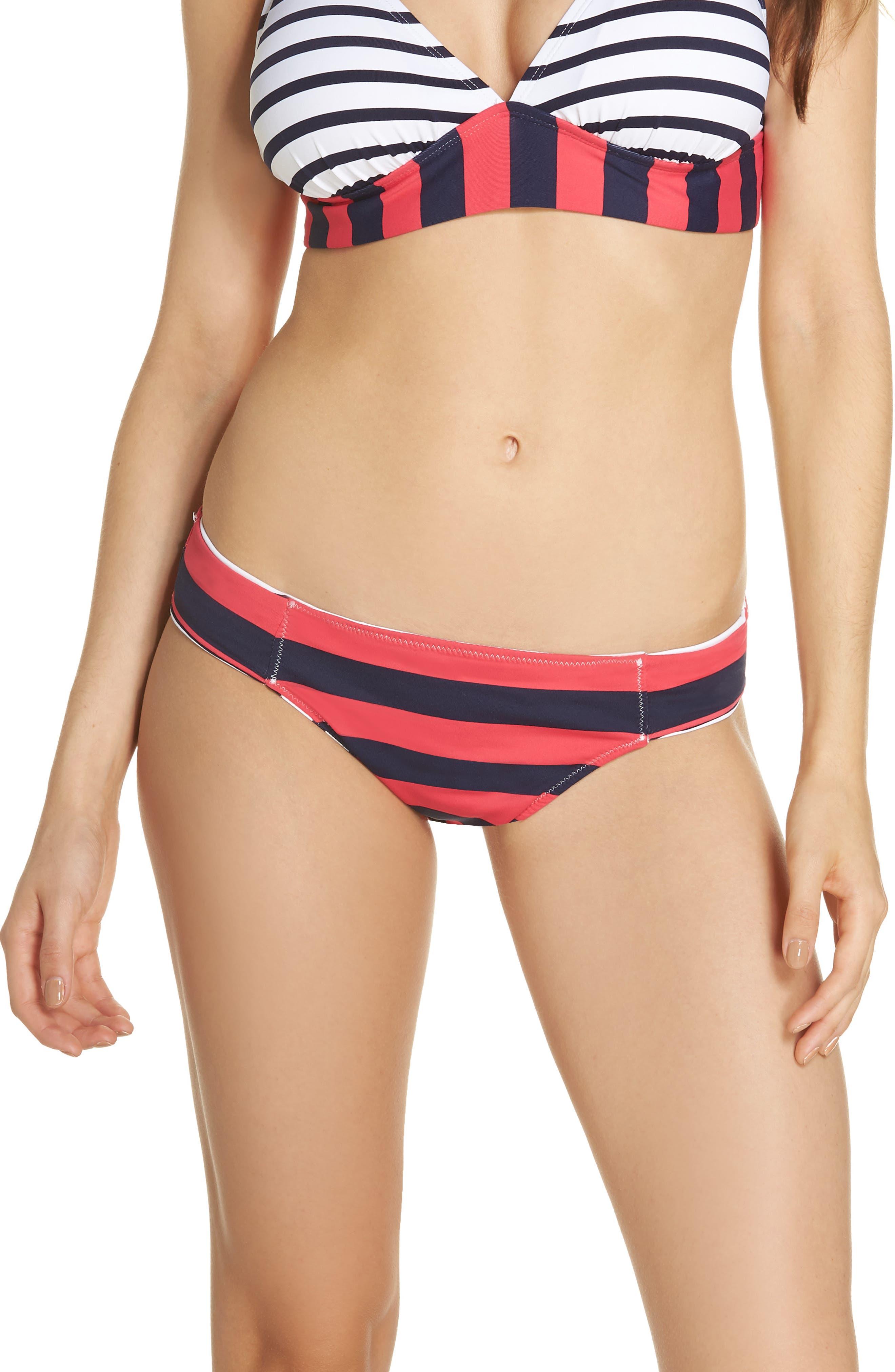 Channel Surfing Reversible Hipster Bikini Bottoms,                             Alternate thumbnail 2, color,                             Mare Blue