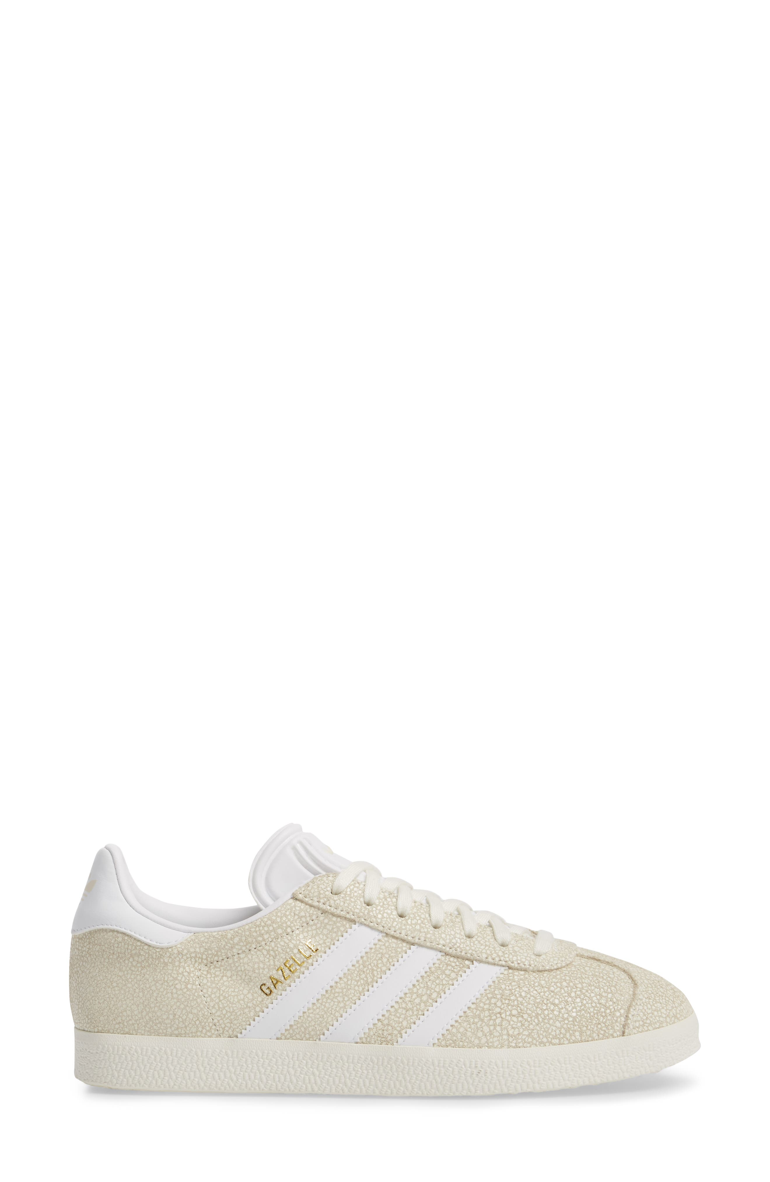 Gazelle Sneaker,                             Alternate thumbnail 7, color,                             Off White/ White/ Off White