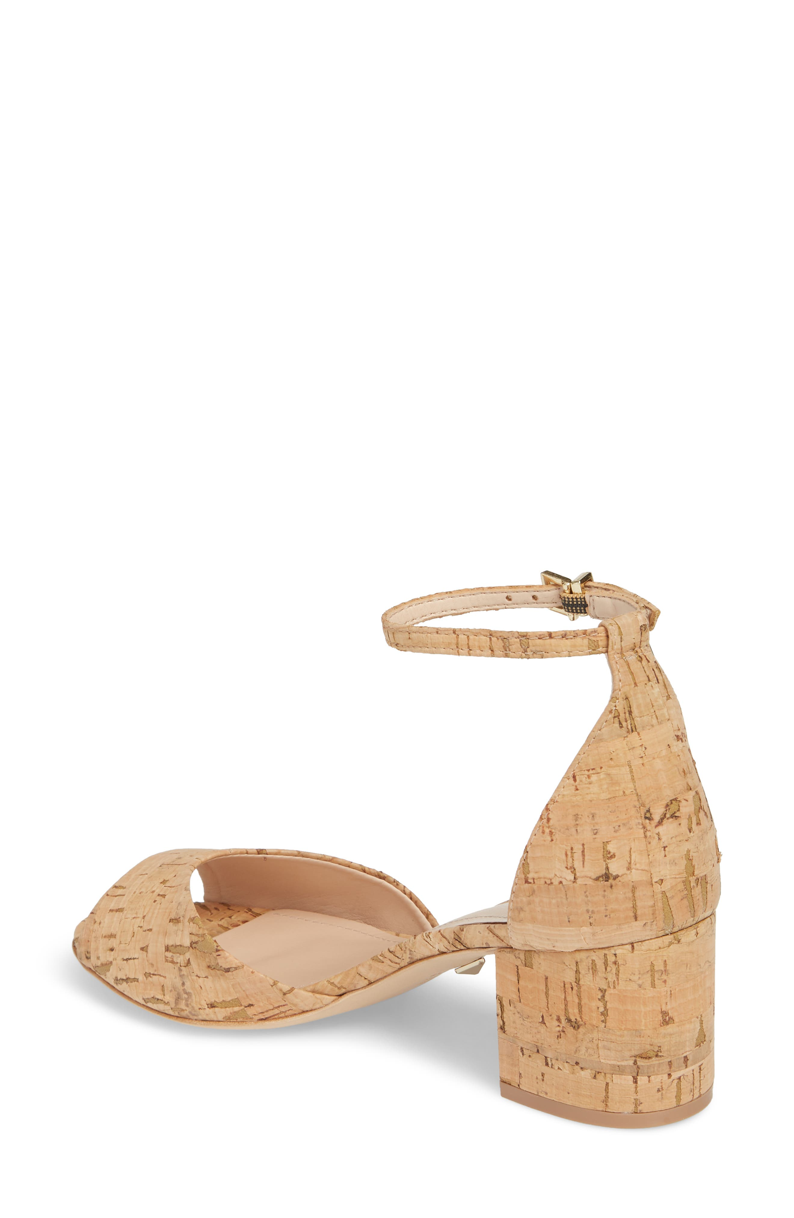 Roama Block Heel Sandal,                             Alternate thumbnail 2, color,                             Natural