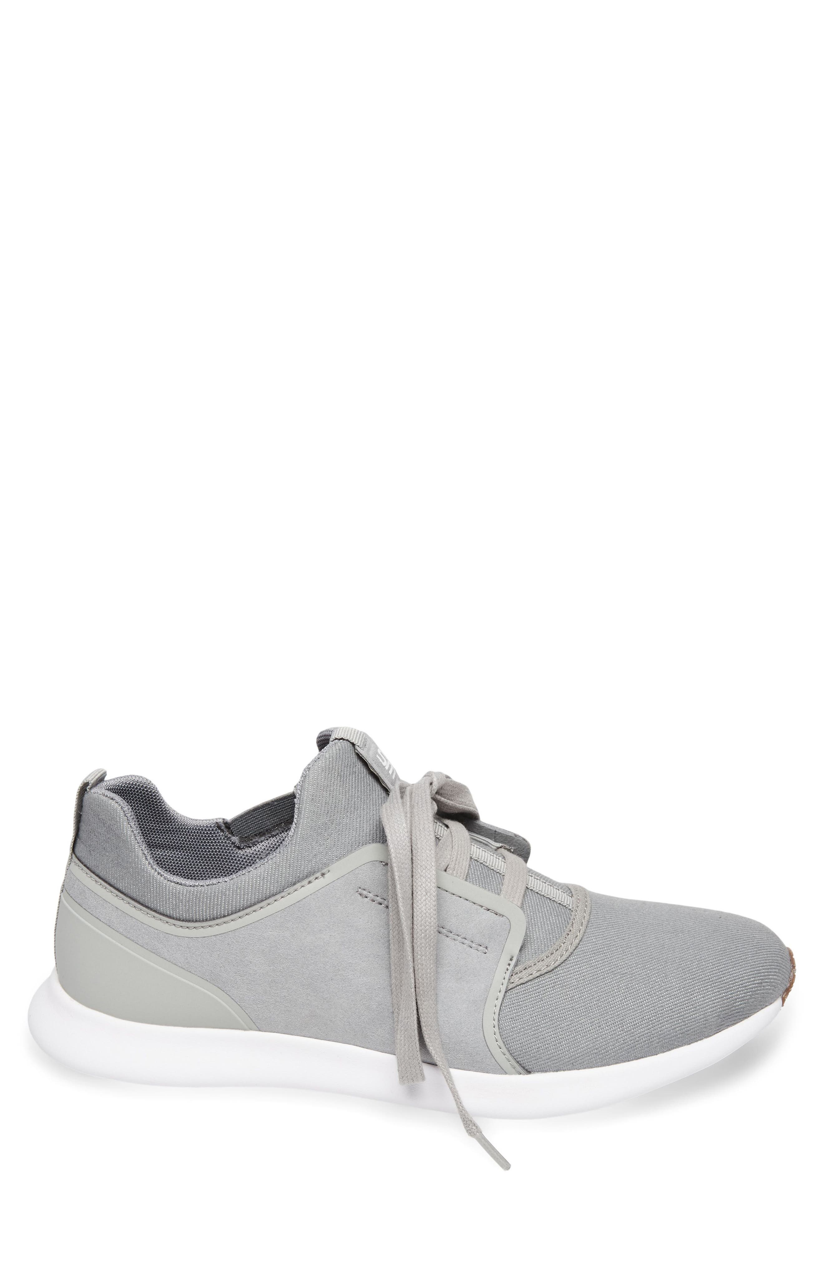 Barrett Sneaker,                             Alternate thumbnail 3, color,                             Grey Leather