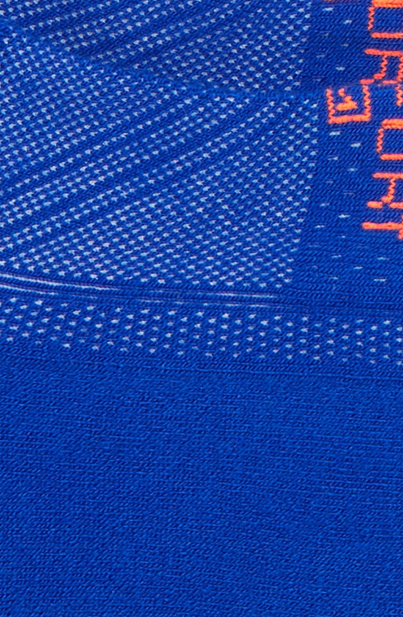 Hidden Comfort Socks,                             Alternate thumbnail 2, color,                             Neon Blue