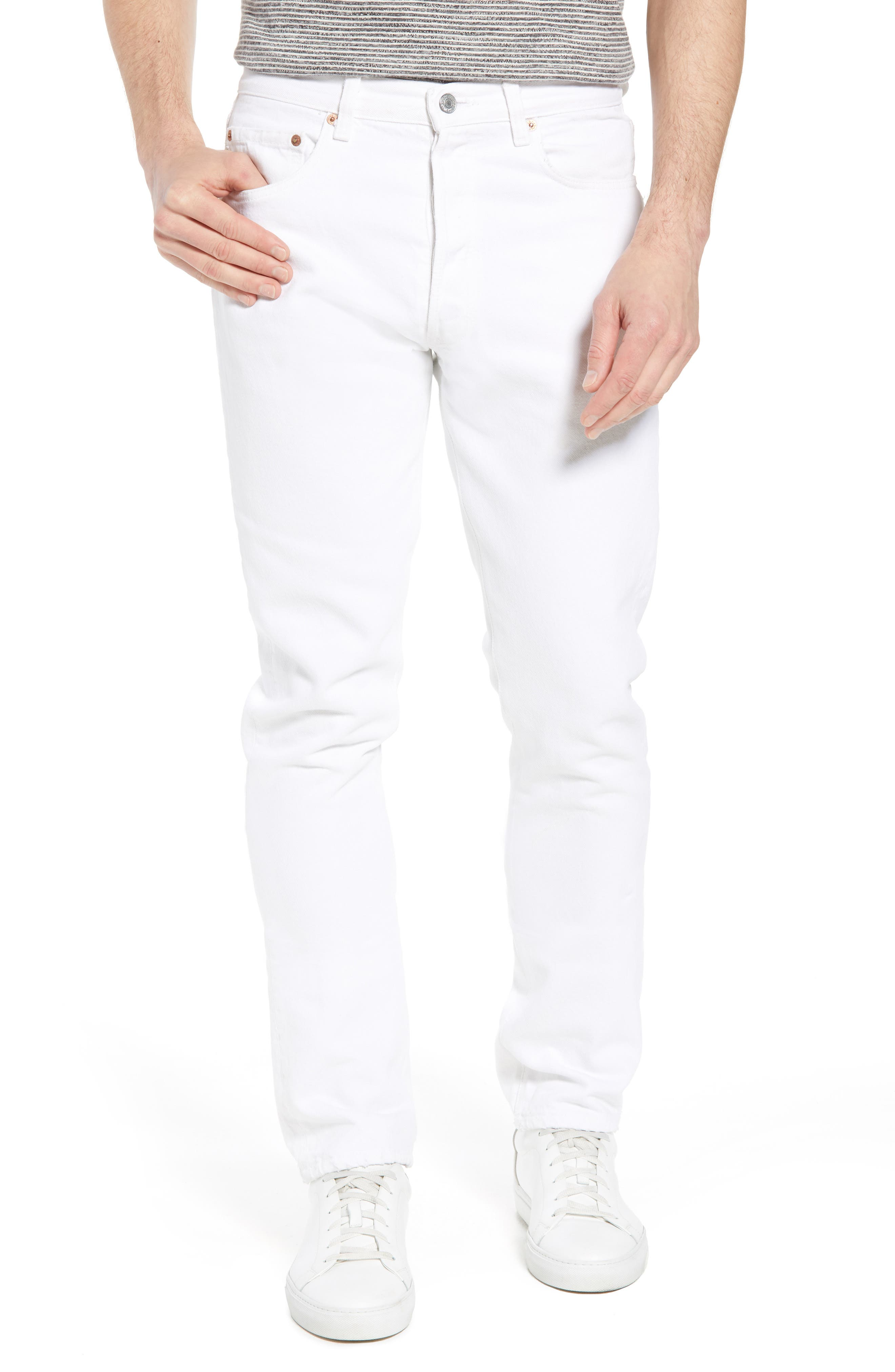 Authorized Vintage 501<sup>®</sup> Tapered Slim Fit Jeans,                         Main,                         color, Av White