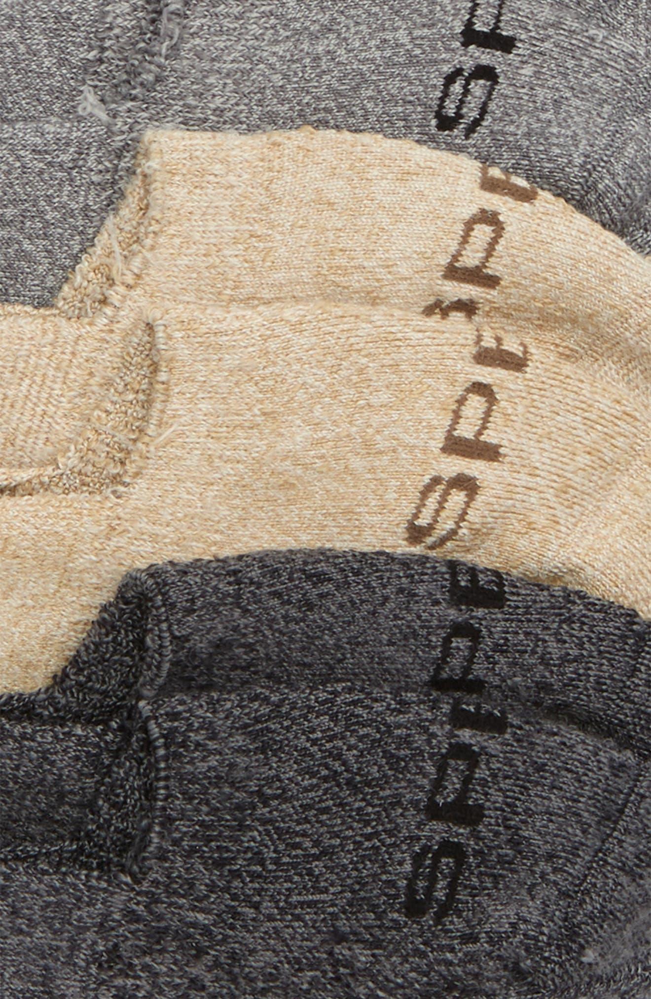 Top-Sider 3-Pack Microfiber Liner Socks,                             Alternate thumbnail 2, color,                             Grey Marl
