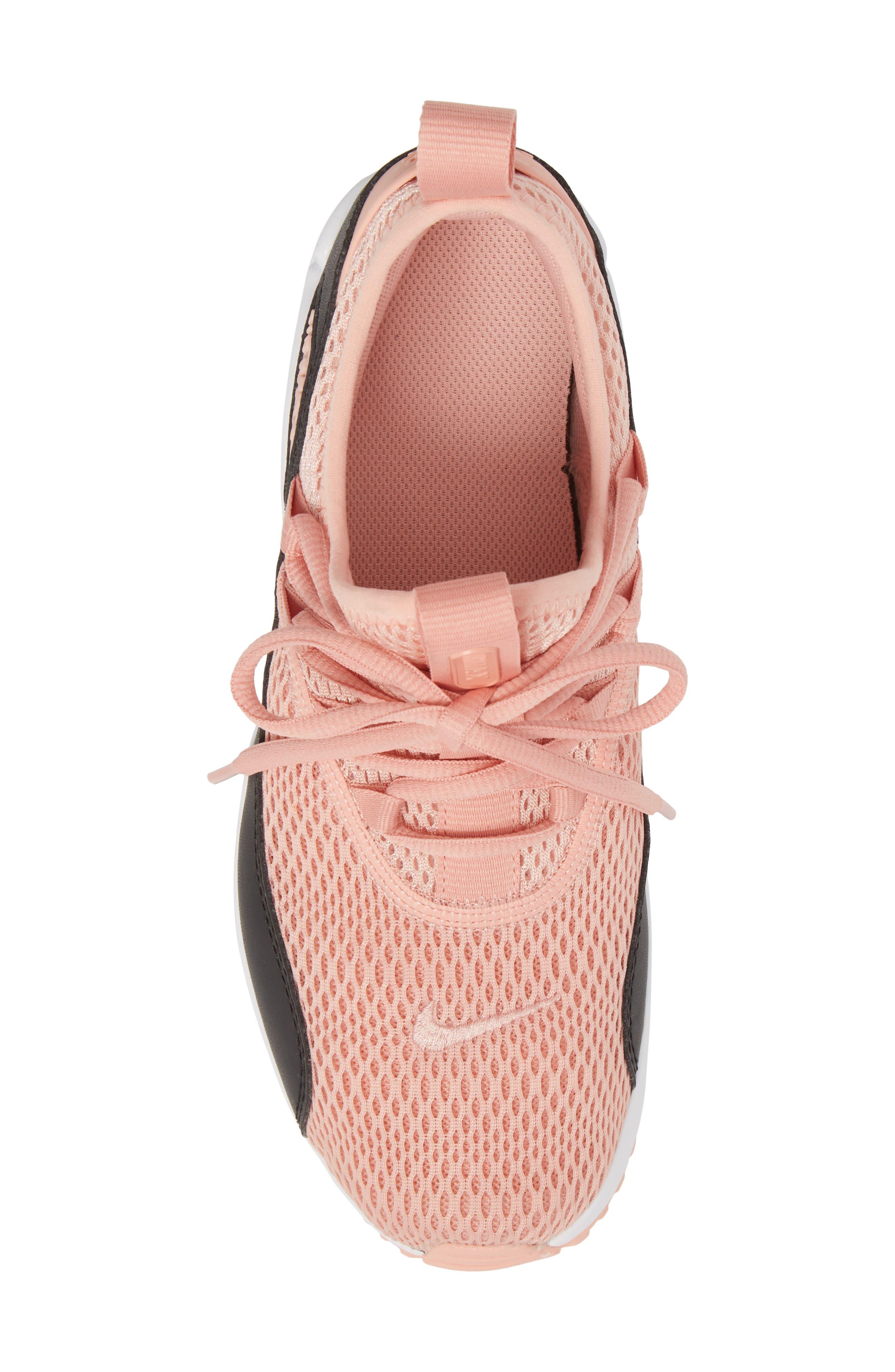 Air Max 90 EZ Sneaker,                             Alternate thumbnail 5, color,                             Coral Stardust/ Black