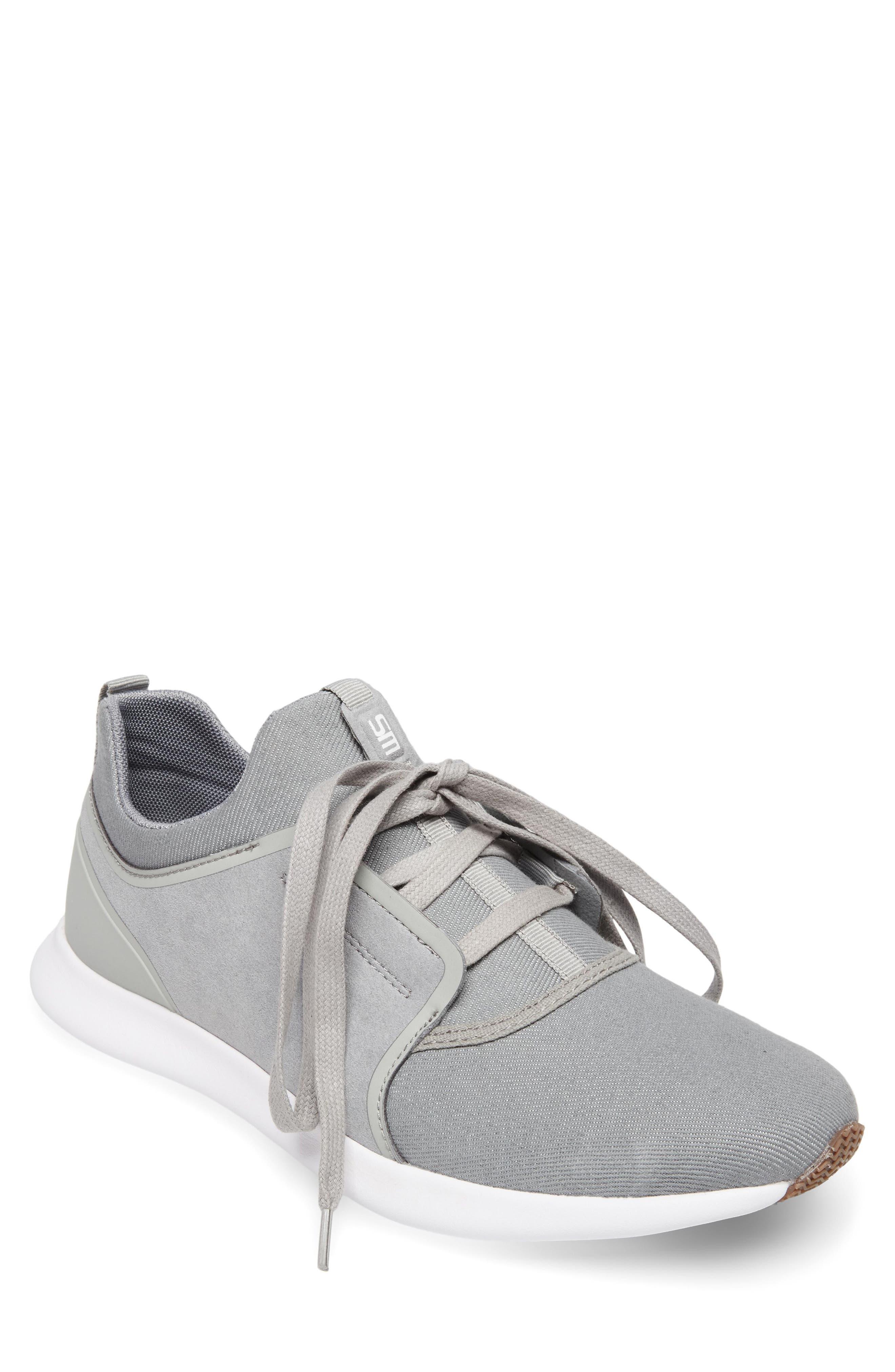 Barrett Sneaker,                         Main,                         color, Grey Leather