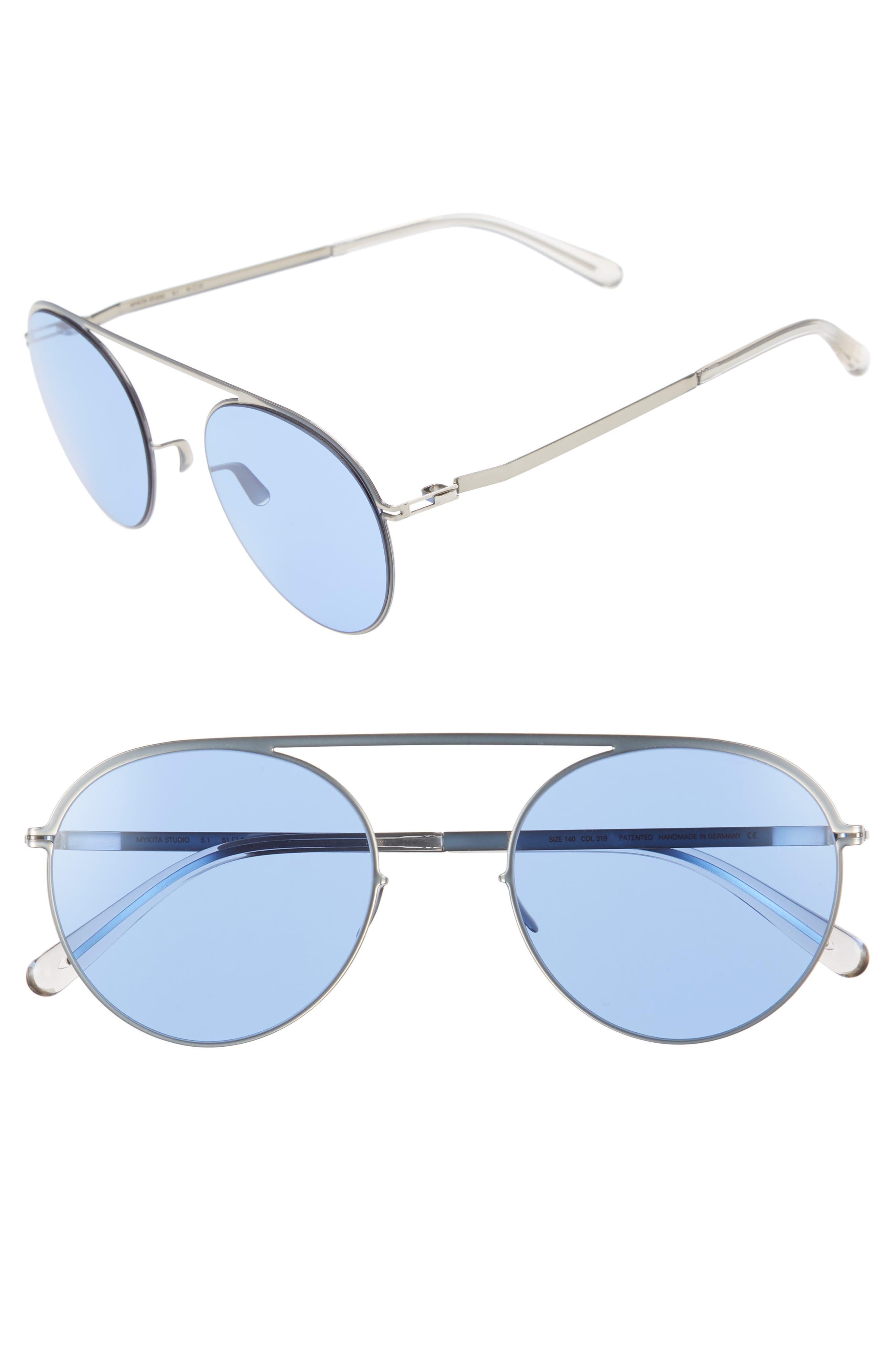 Studio 5.1 51mm Sunglasses,                             Main thumbnail 1, color,                             Silver