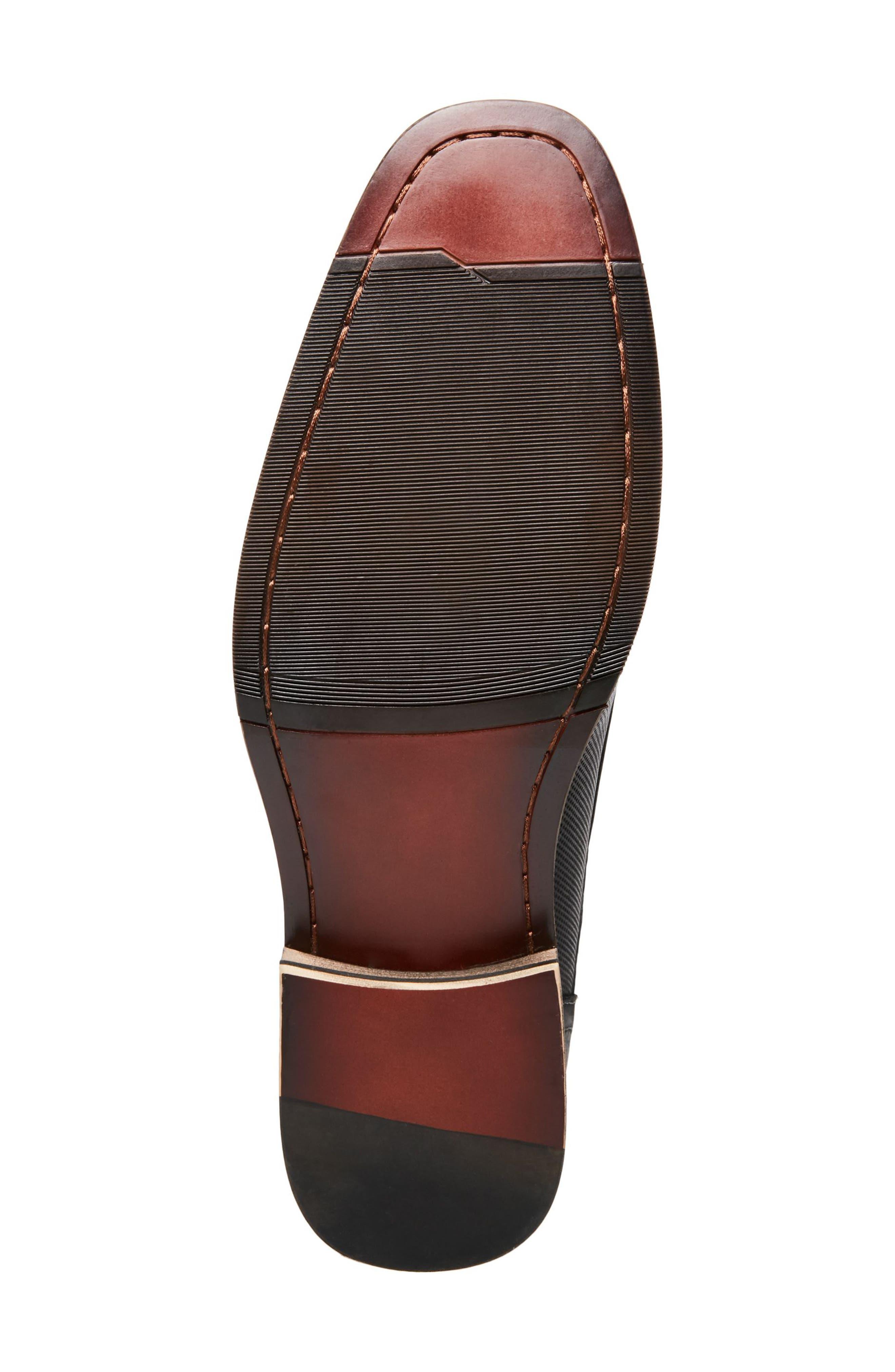 Jaysun Embossed Plain Toe Derby,                             Alternate thumbnail 6, color,                             Dark Grey Leather