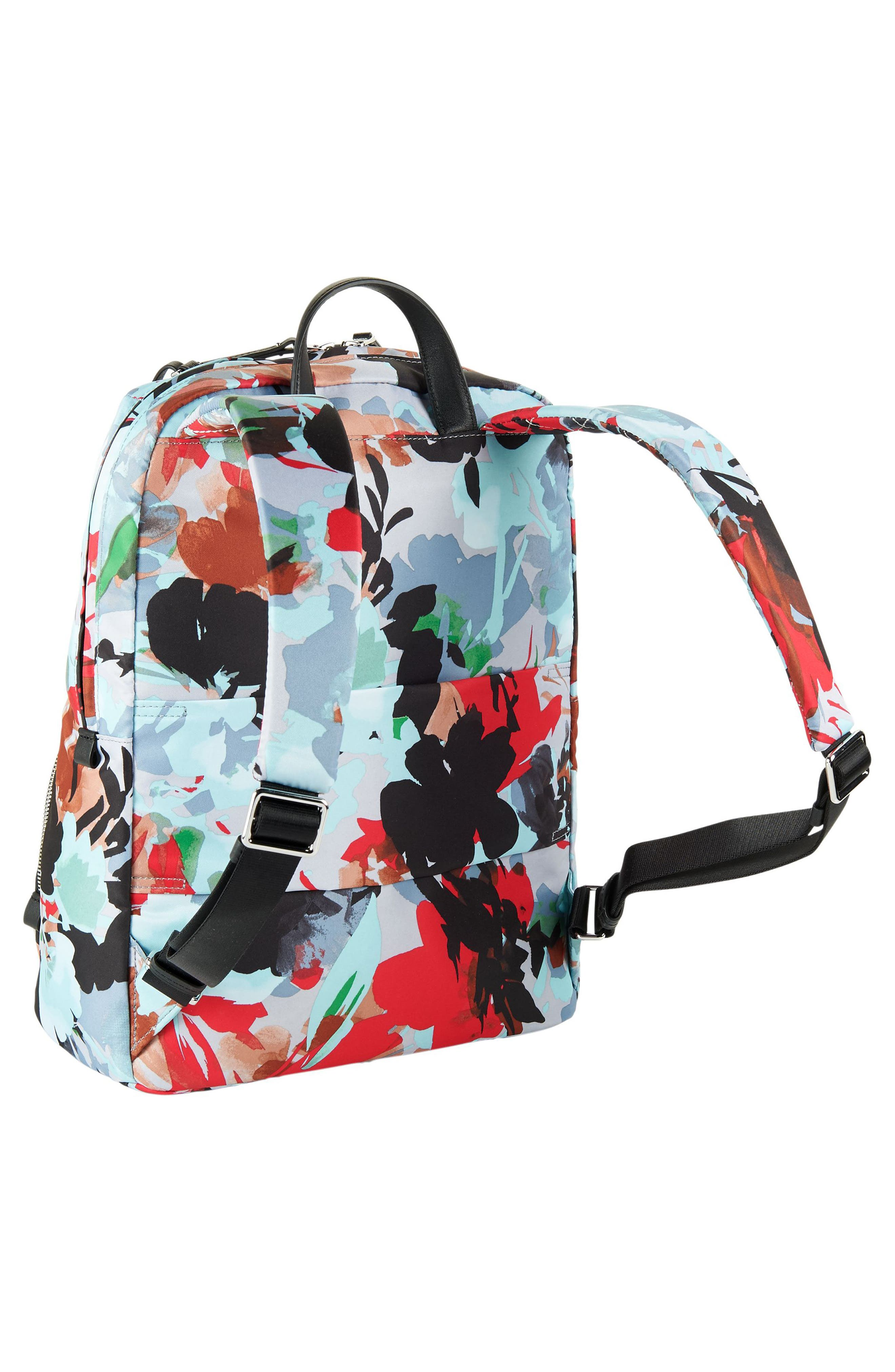 Voyageur Halle Nylon Backpack,                             Alternate thumbnail 3, color,                             Pacific Floral