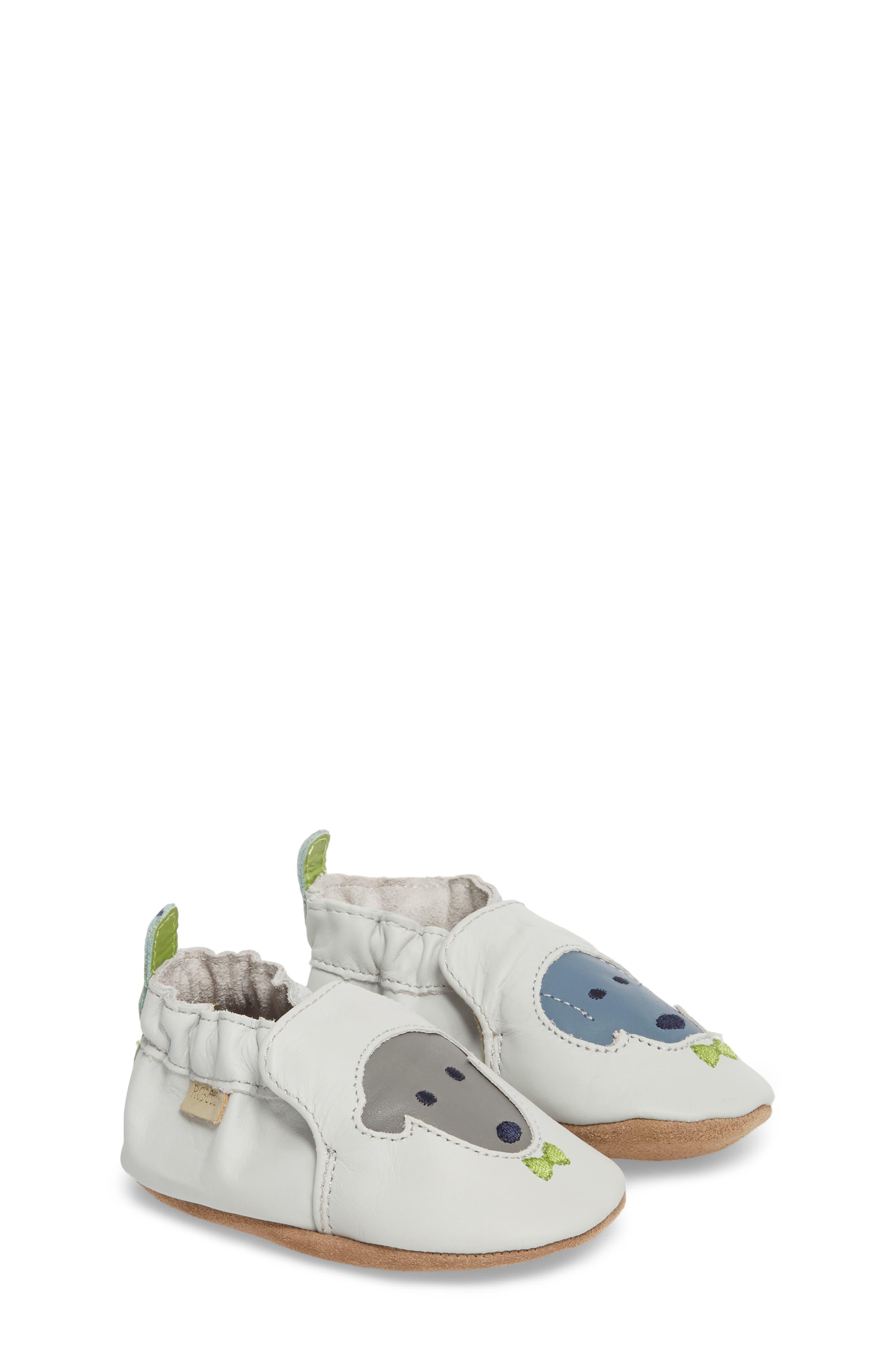 Dog Buddies Moccasin Crib Shoe,                             Alternate thumbnail 3, color,                             Light Grey