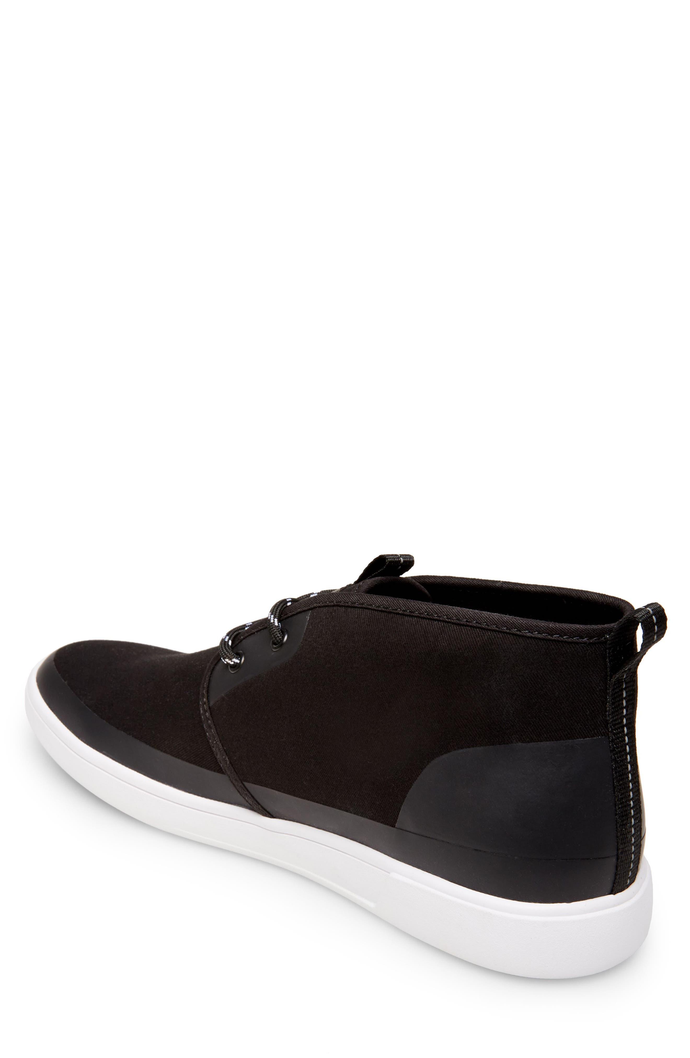 Franklyn Chukka Sneaker,                             Alternate thumbnail 2, color,                             Black Fabric