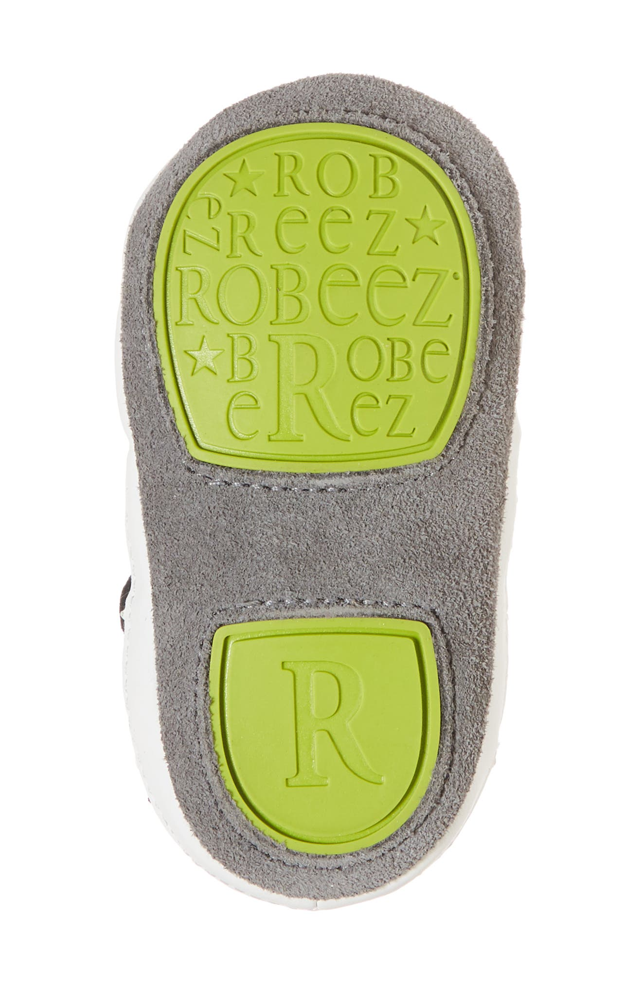 Alternate Image 6  - Robeez® Zachary High Top Crib Sneaker (Baby & Walker)