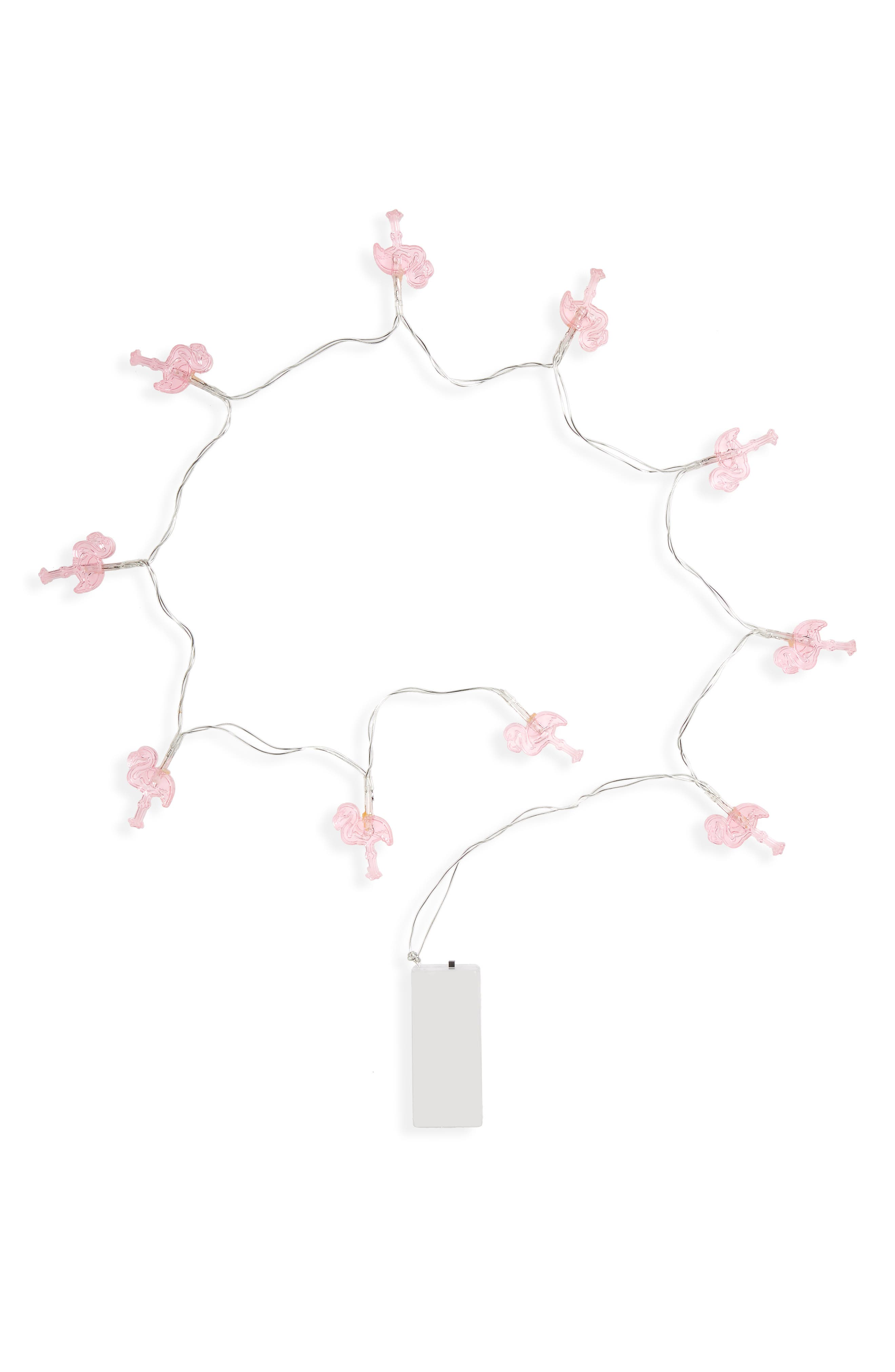 Flamingo Battery Operated String Lights,                             Main thumbnail 1, color,                             Pink Combo