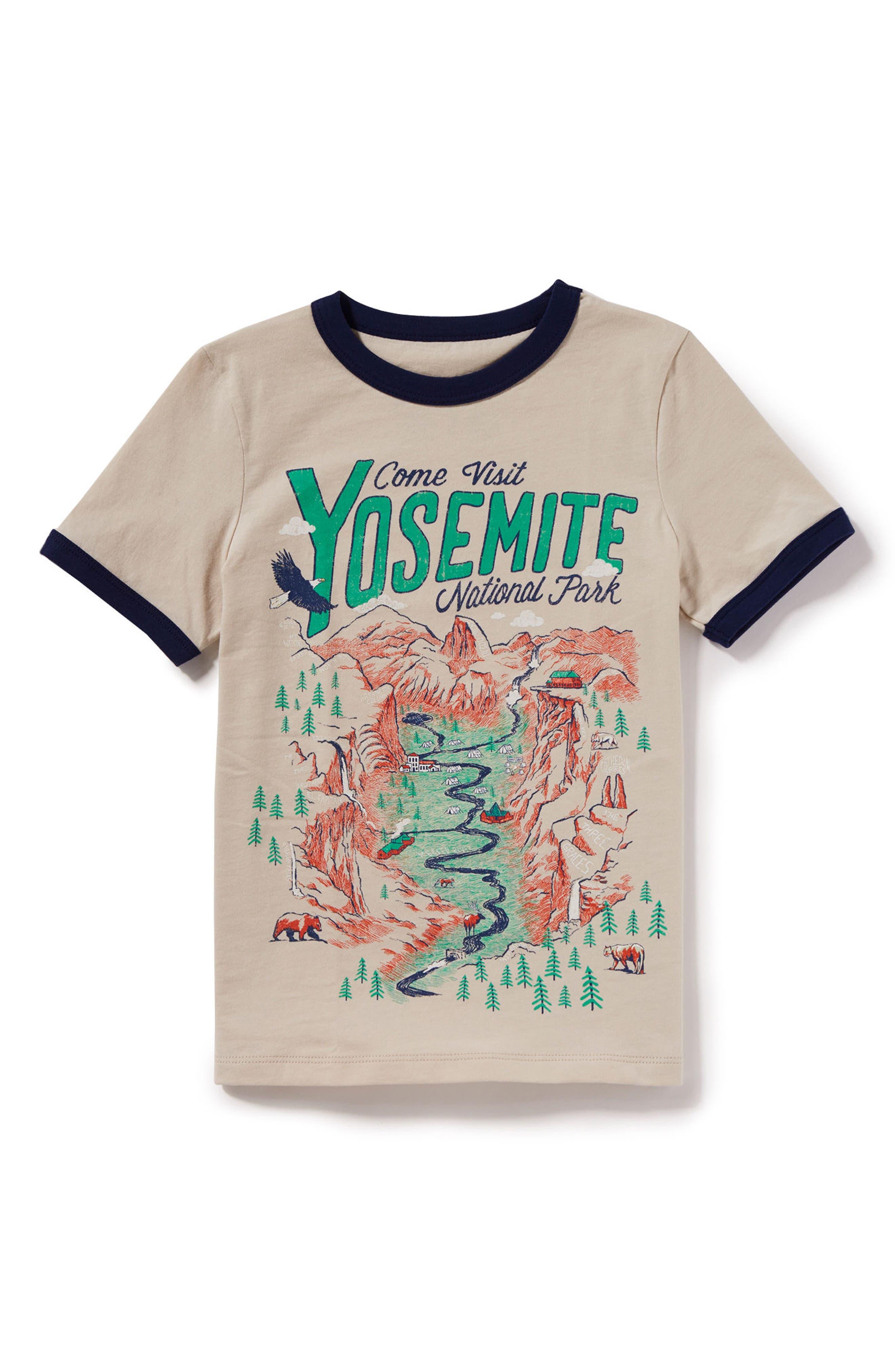 Yosemite Graphic T-Shirt,                             Main thumbnail 1, color,                             Ivory