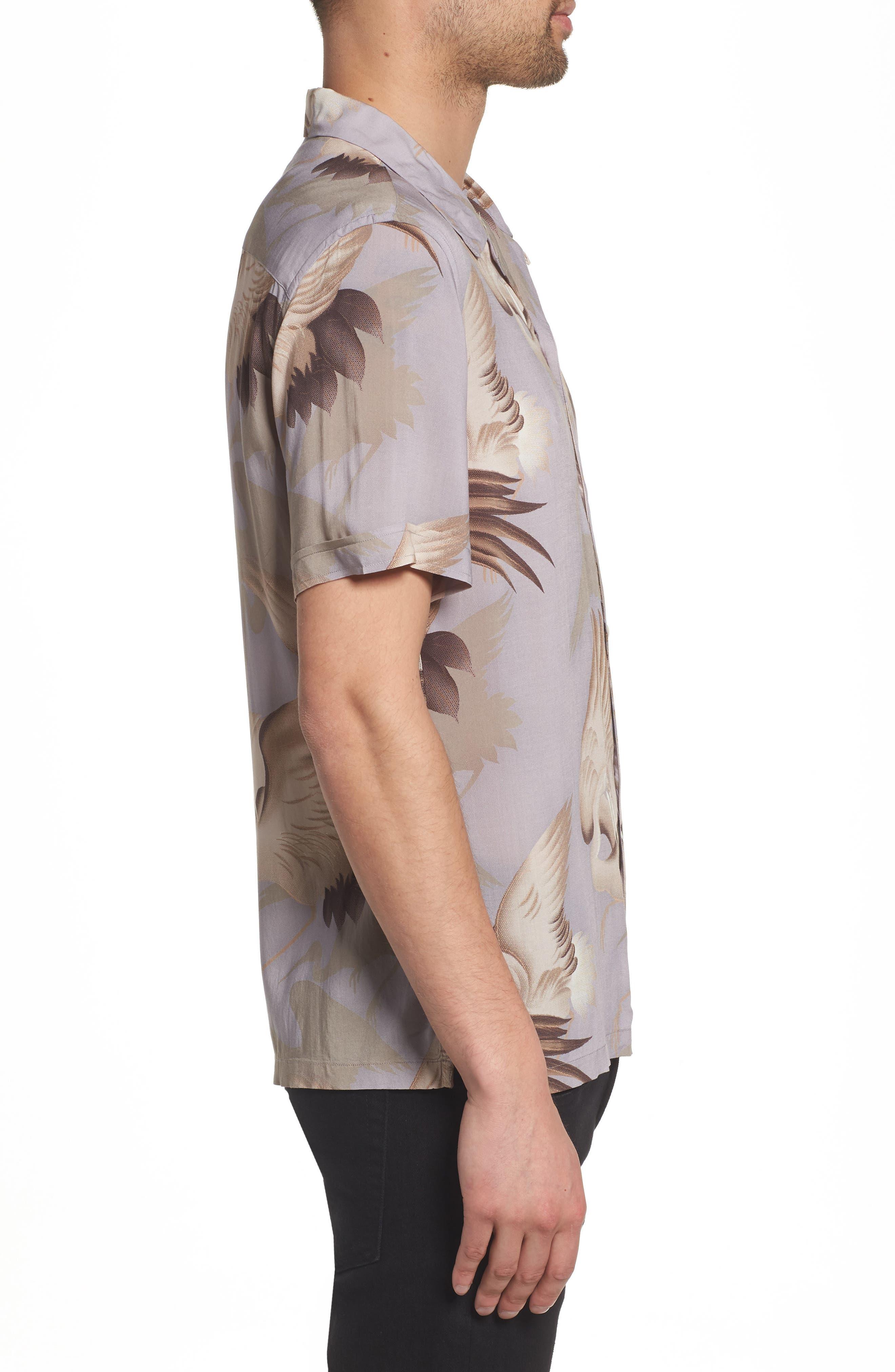 Wader Regular Fit Short Sleeve Sport Shirt,                             Alternate thumbnail 4, color,                             Chrome Grey