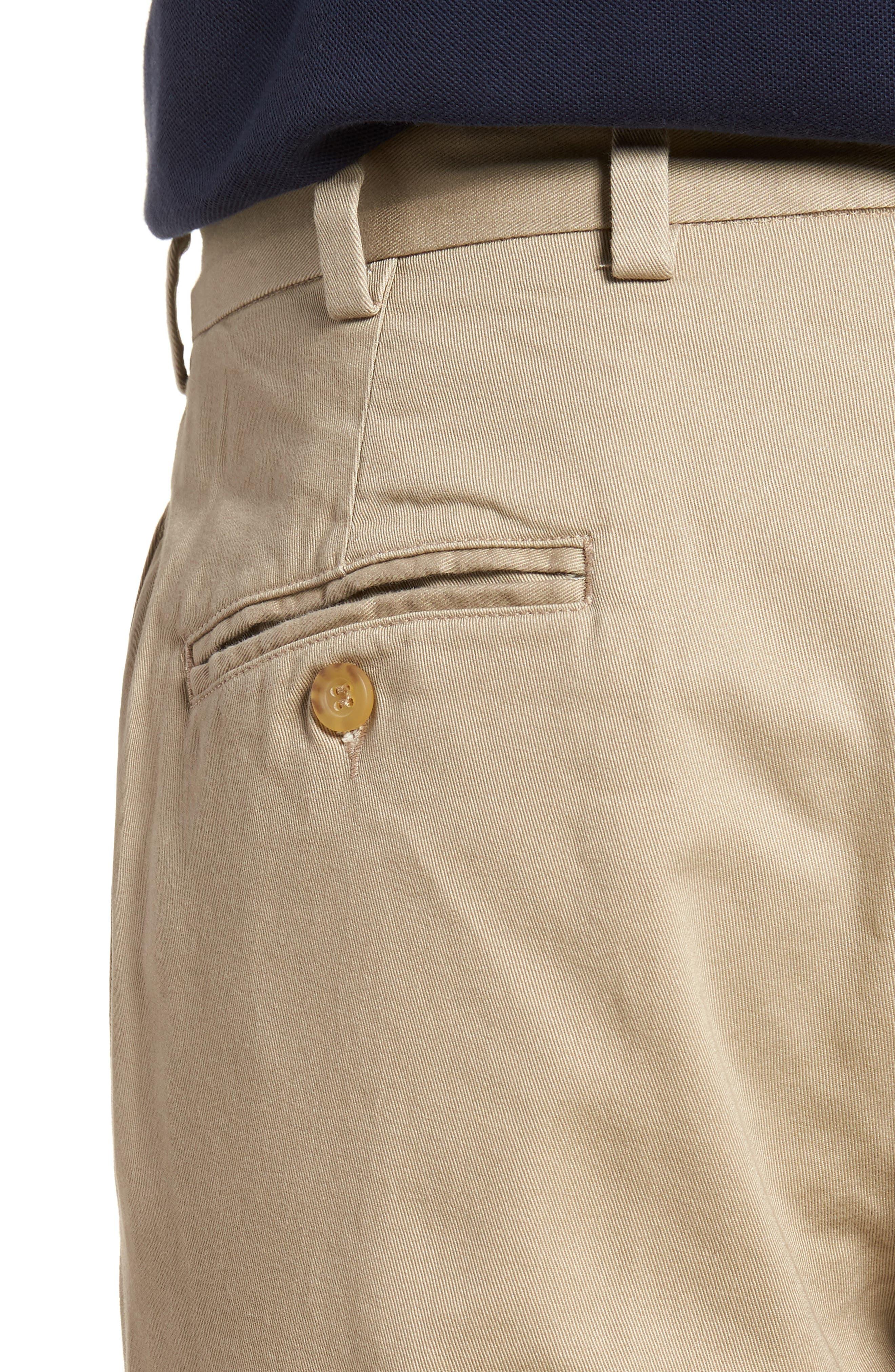 M2 Classic Fit Vintage Twill Flat Front Pants,                             Alternate thumbnail 4, color,                             Khaki