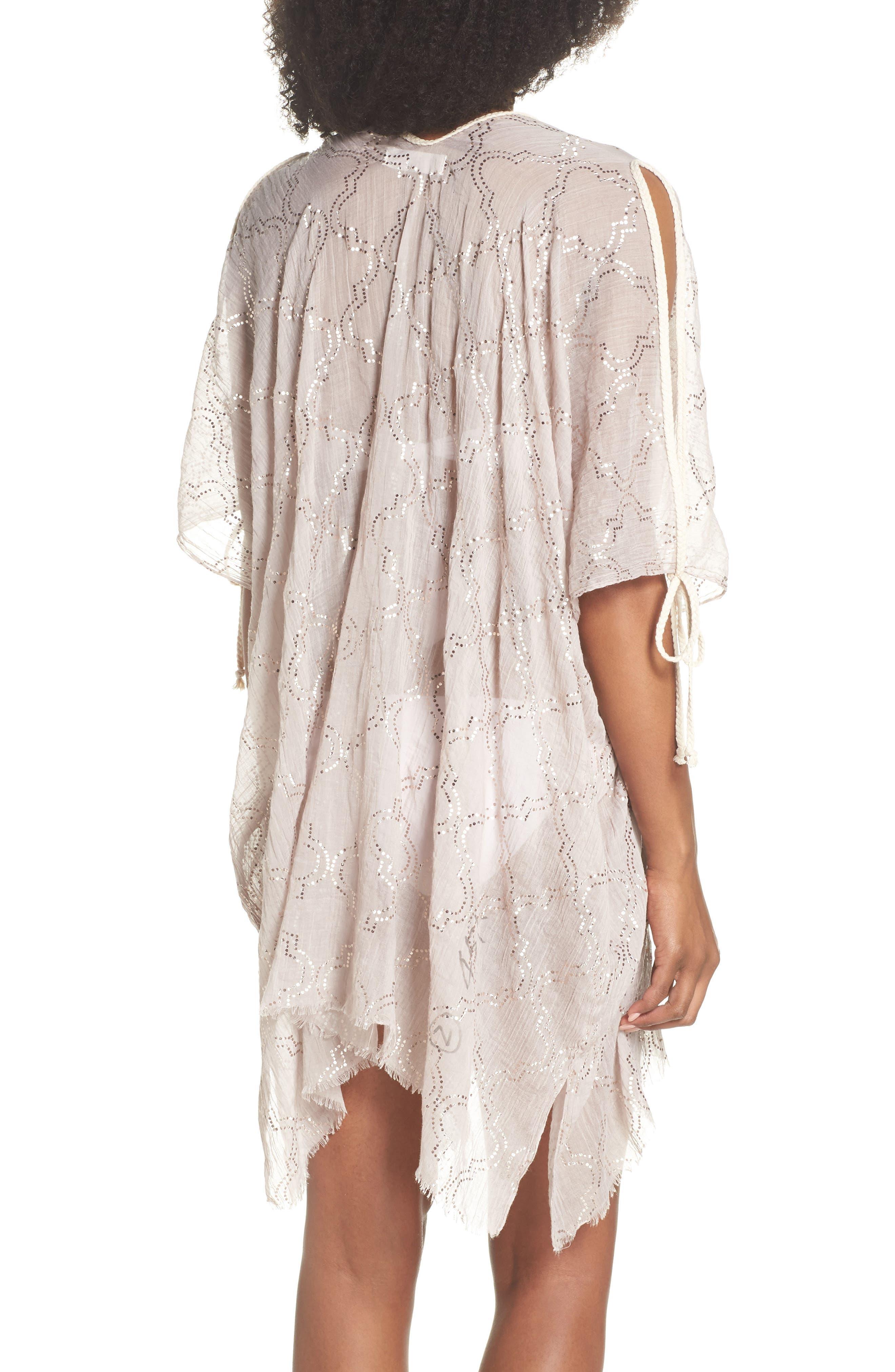 Cold Shoulder Cover-Up Dress,                             Alternate thumbnail 2, color,                             Sand
