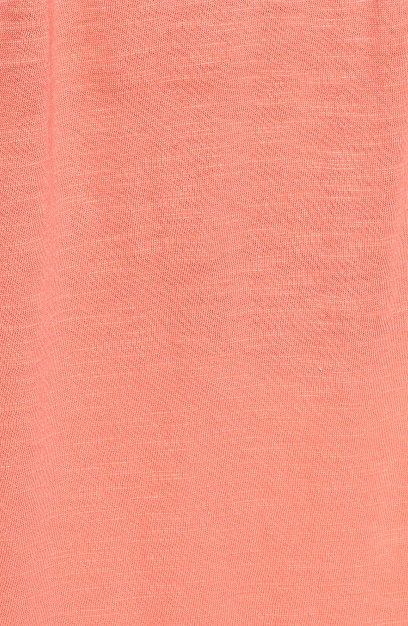 Pintuck Henley Tank,                             Alternate thumbnail 6, color,                             Coral Rose