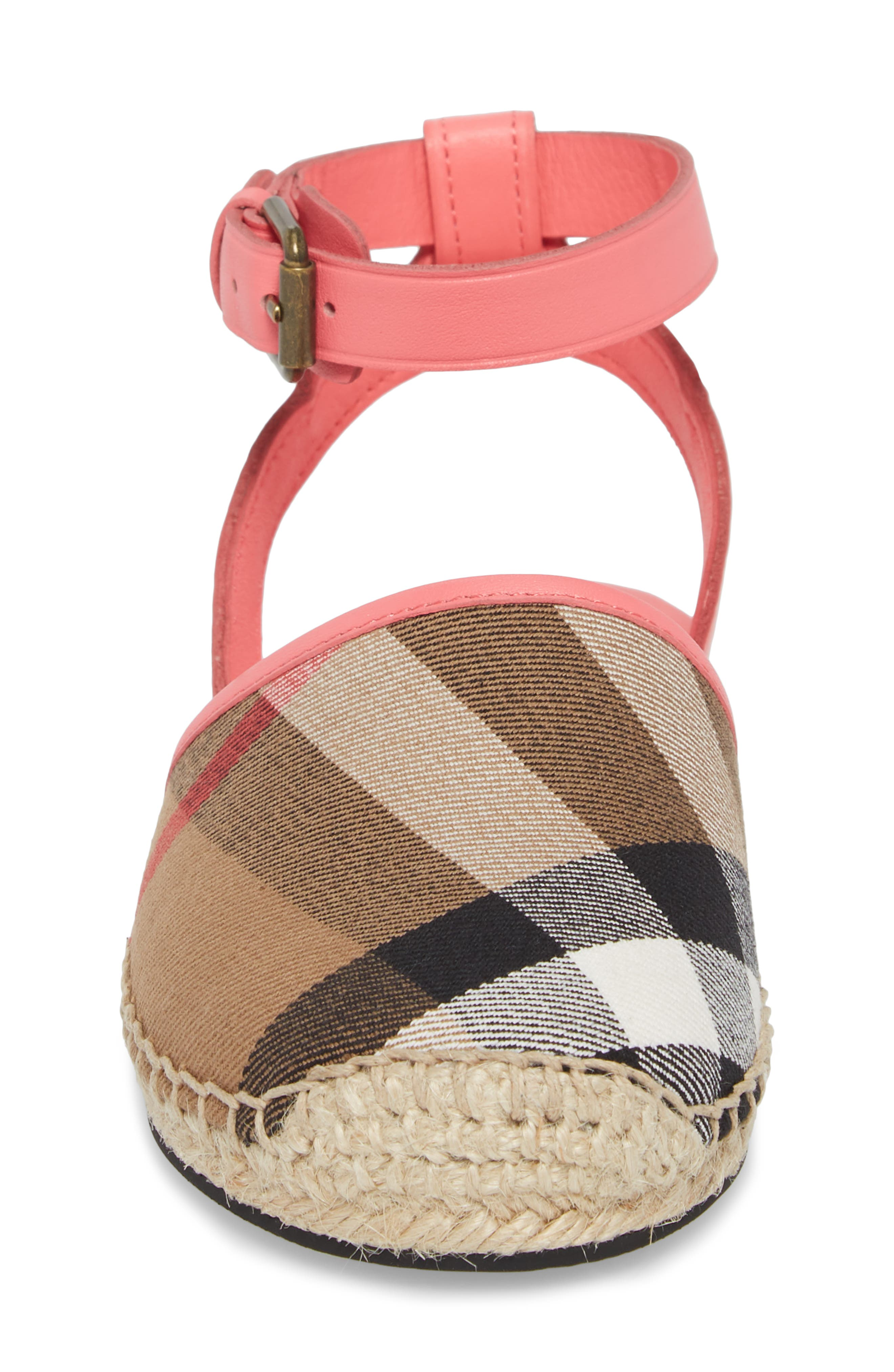 New Perth Espadrille Sandal,                             Alternate thumbnail 4, color,                             Bright Peony Rose