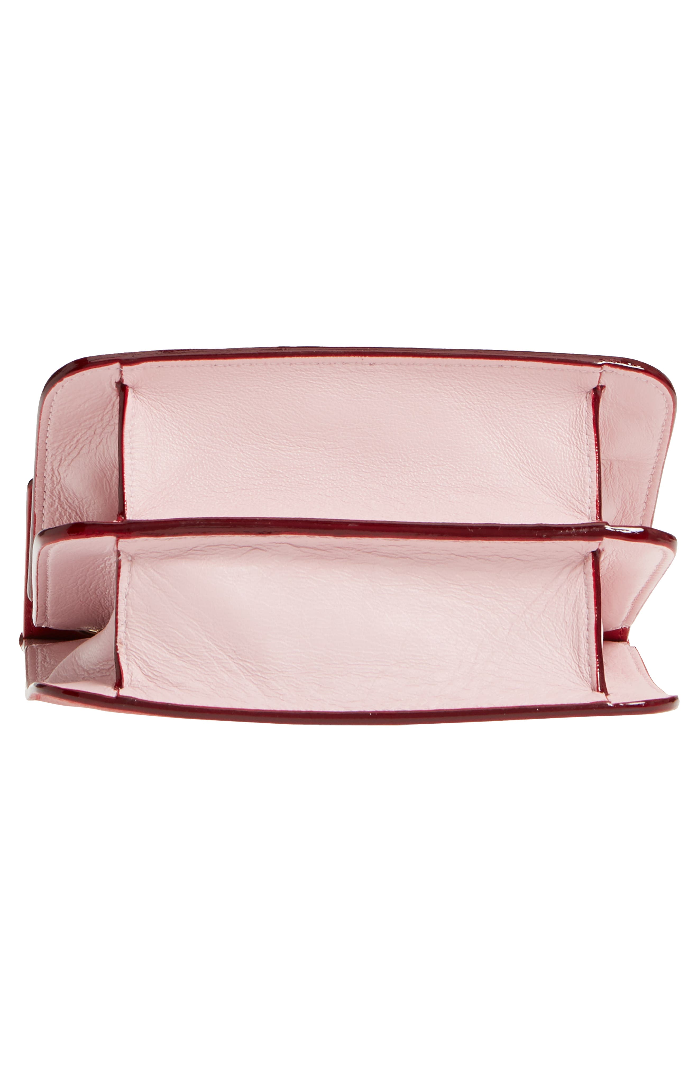 Rebel Mini Colorblock Leather Crossbody Bag,                             Alternate thumbnail 6, color,                             Red/ Rosewater