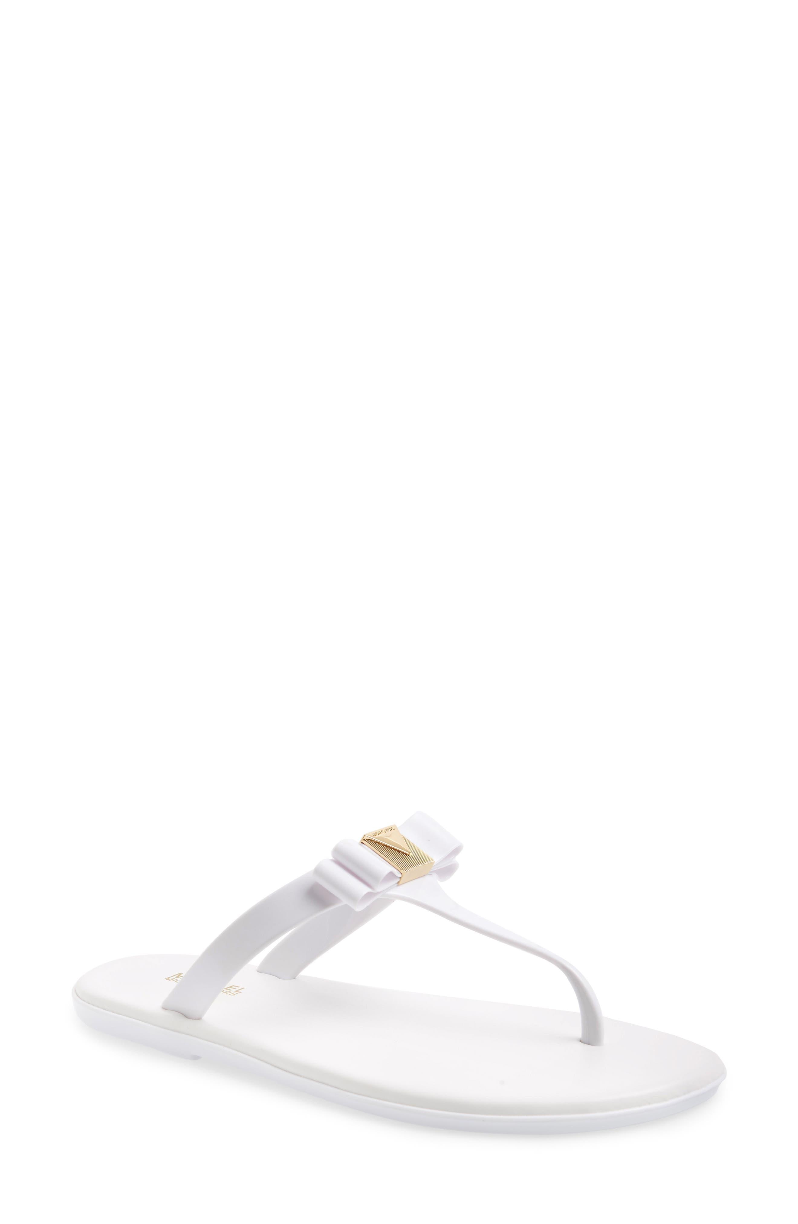 0bb5ea02e610 Michael Michael Kors Caroline Jelly Flip Flop In Optic White