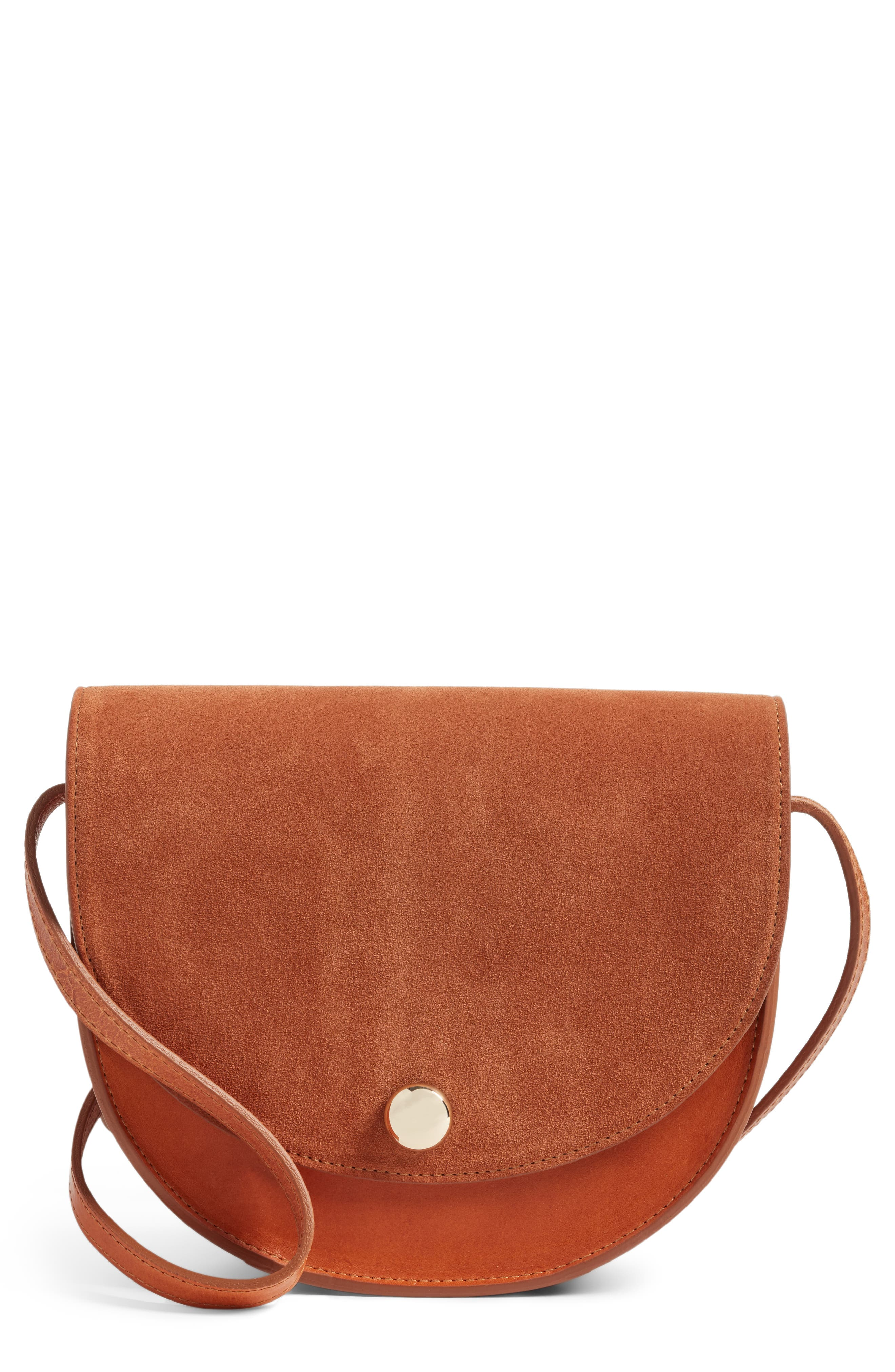 Ernest Crossbody Bag,                         Main,                         color, Bi Fabric Camel