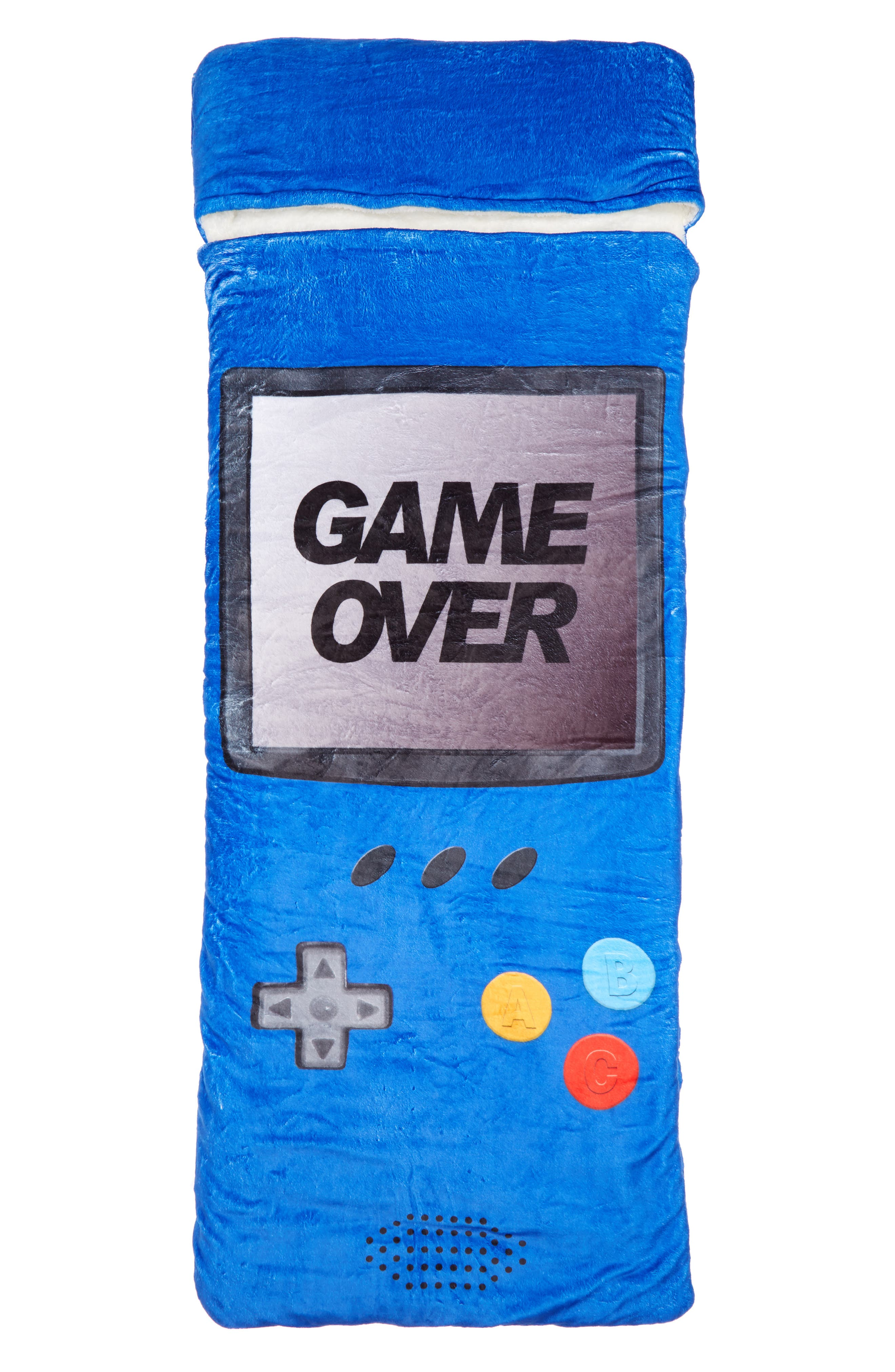 Game Over Sleeping Bag,                             Main thumbnail 1, color,                             Blue