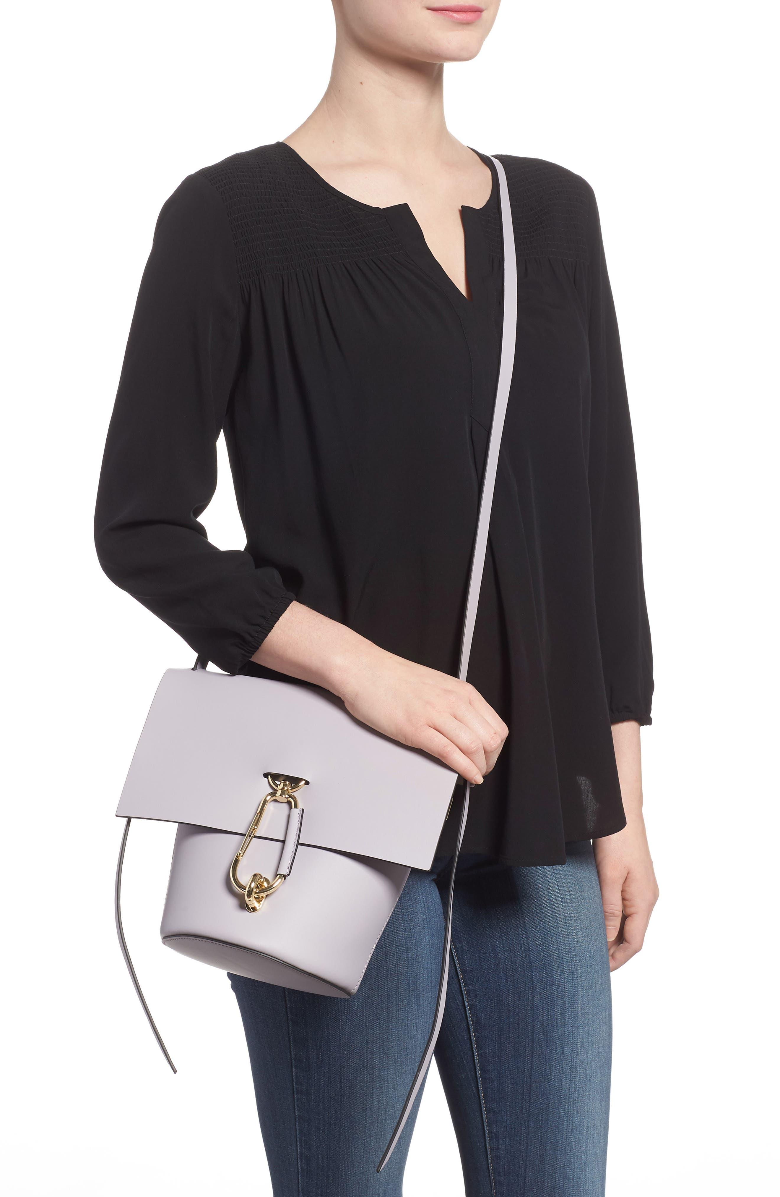 Belay Leather Crossbody Bag,                             Alternate thumbnail 2, color,                             Violet