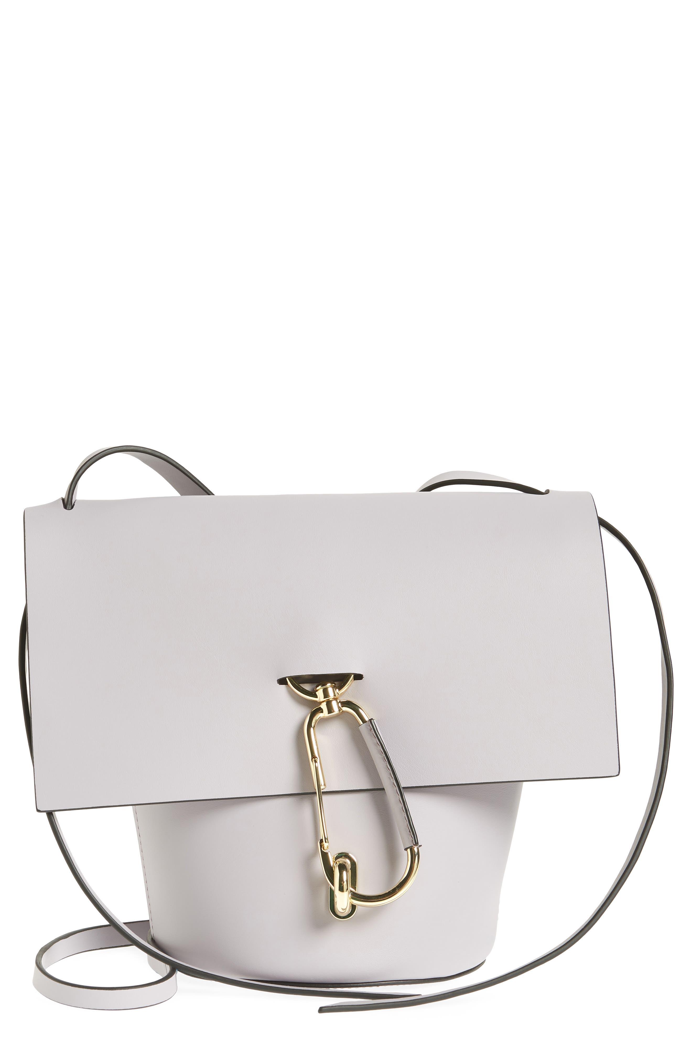 Belay Leather Crossbody Bag,                             Main thumbnail 1, color,                             Violet
