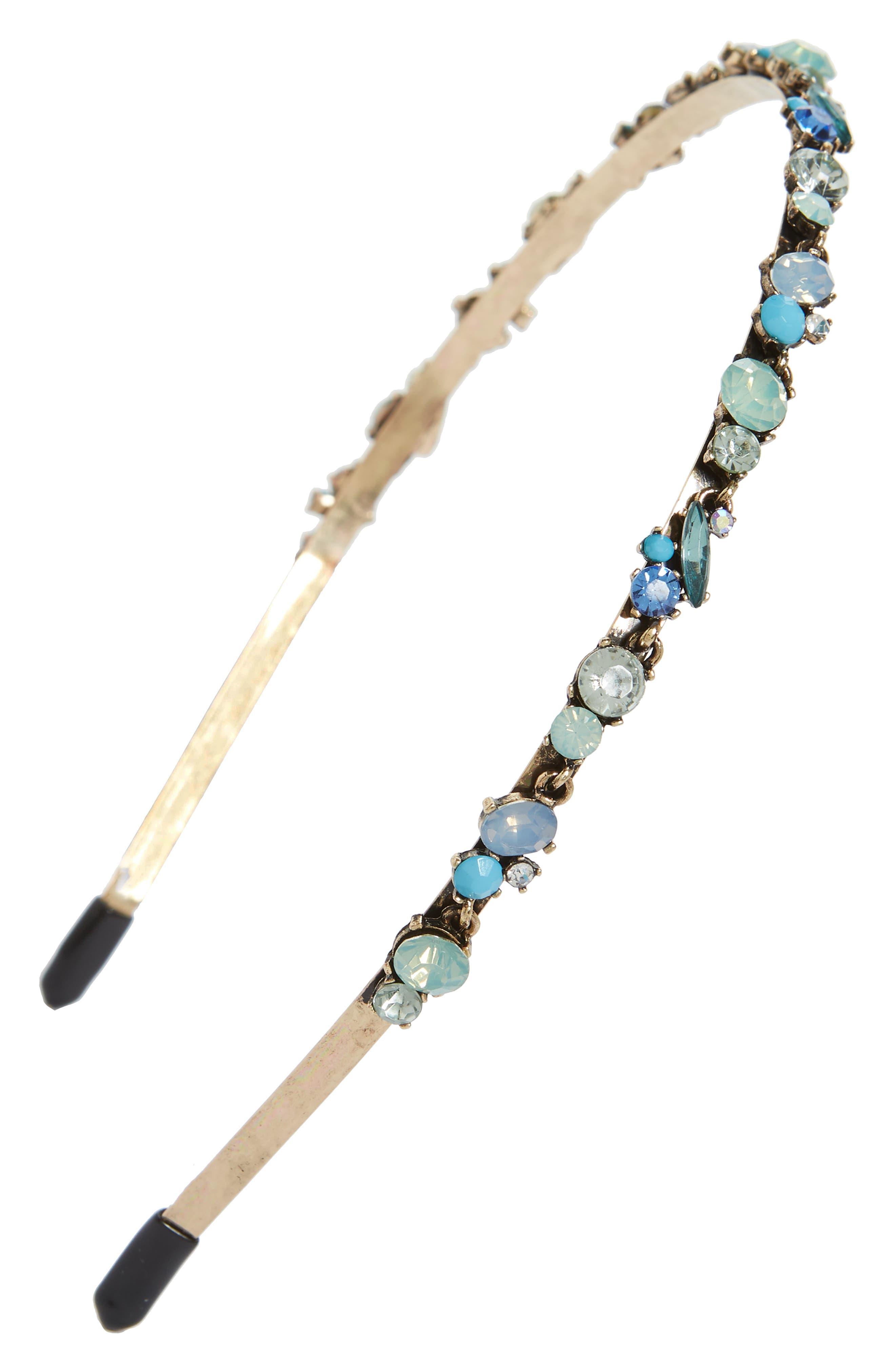 Mixed Cluster Headband,                             Main thumbnail 1, color,                             Blue