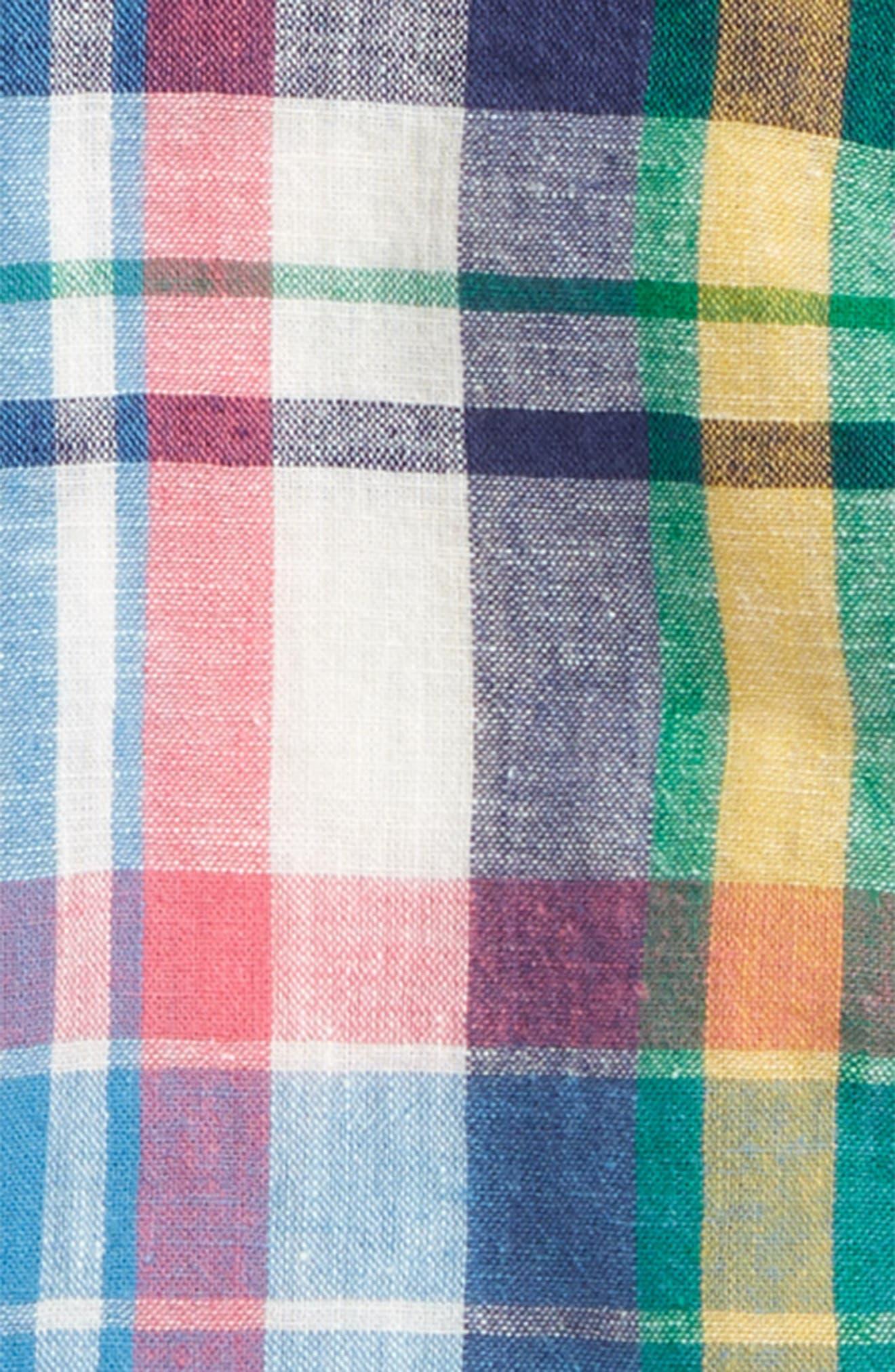 Fun Short Sleeve Button Down Shirt,                             Alternate thumbnail 2, color,                             Caspian Blue Multi