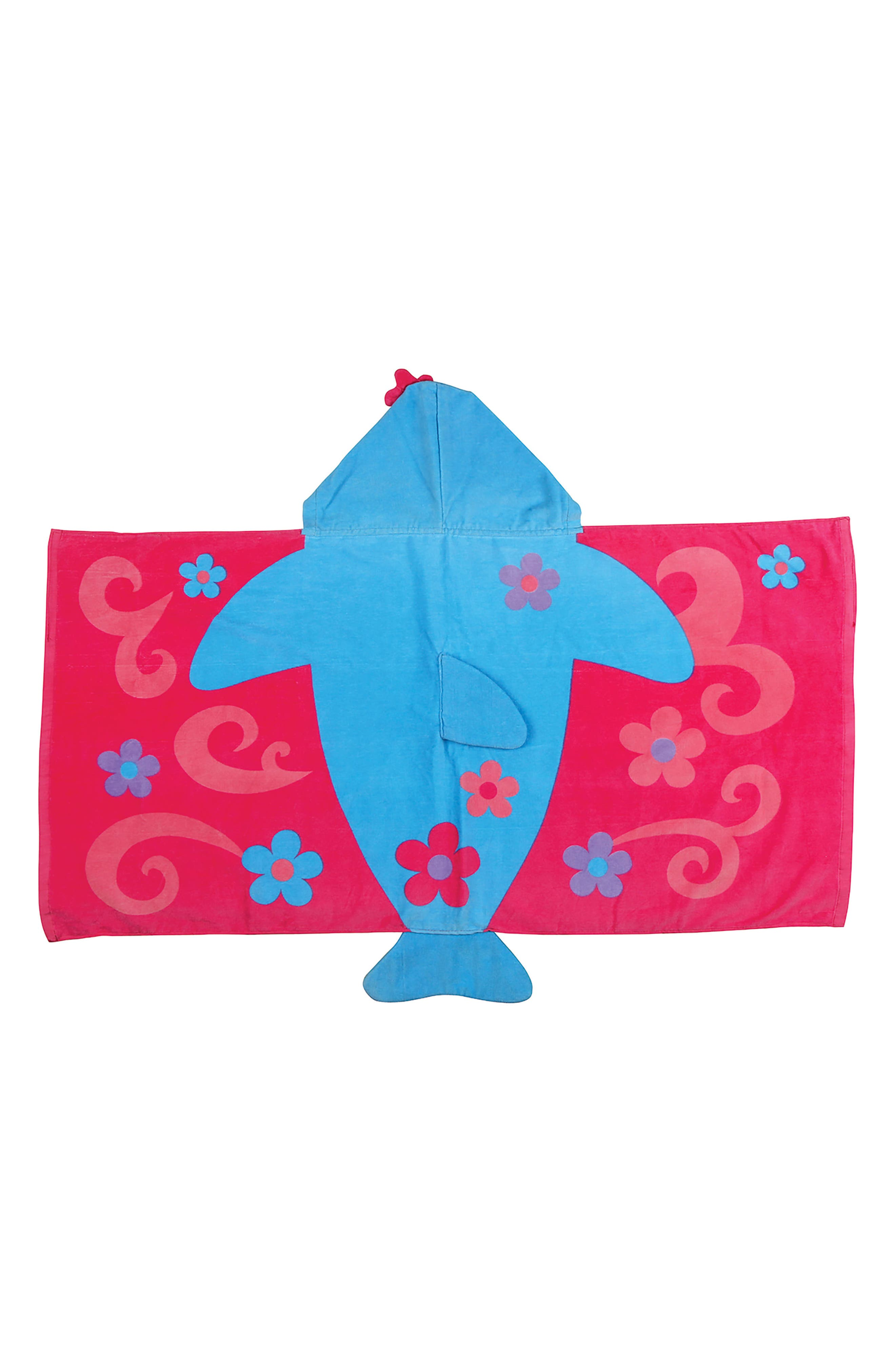 Beach Tote, Hooded Towel & Toys,                             Alternate thumbnail 4, color,                             Blue Dolphin