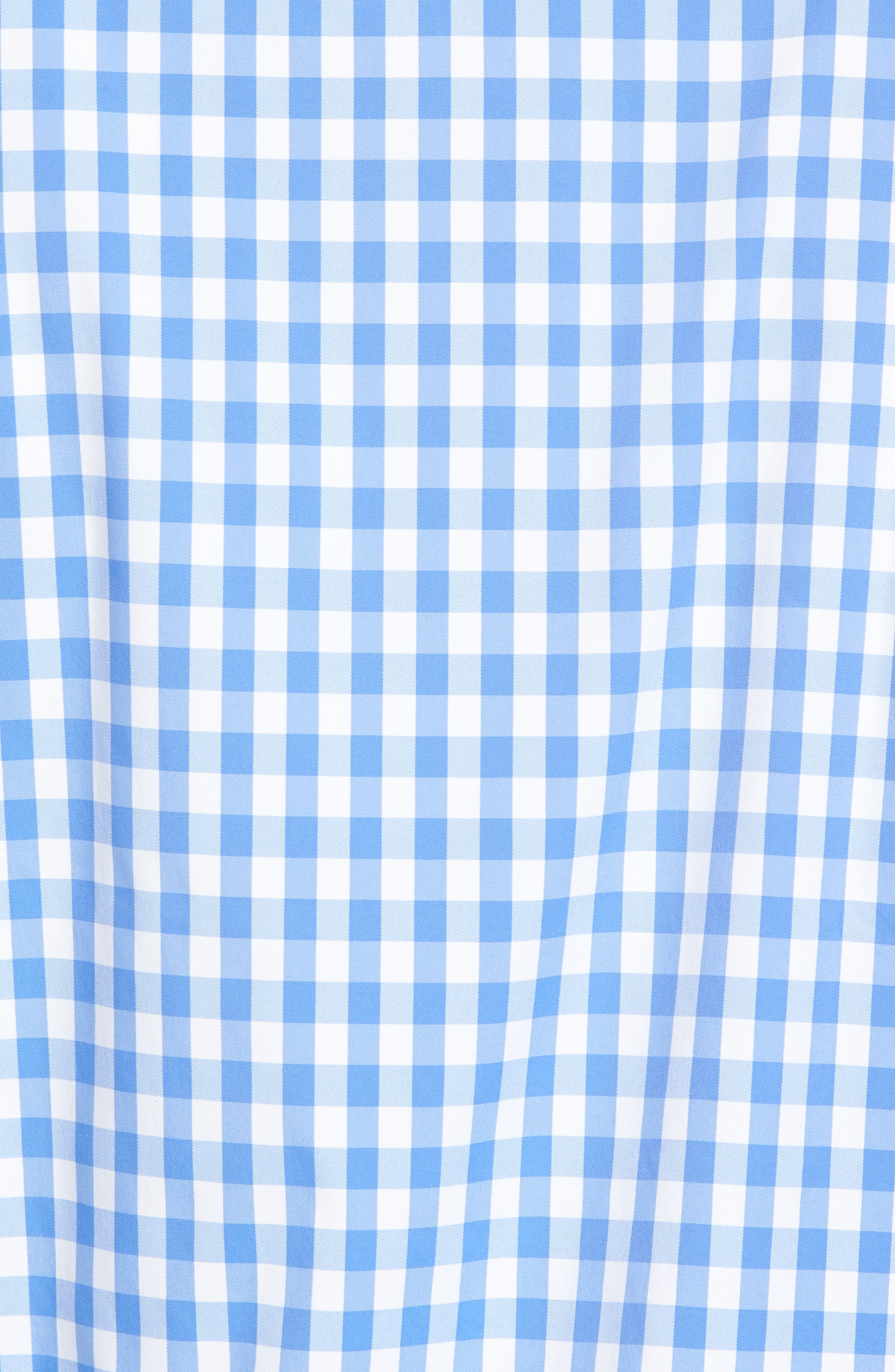 Shaped Fit Gingham Sport Shirt,                             Alternate thumbnail 5, color,                             Classic Blue