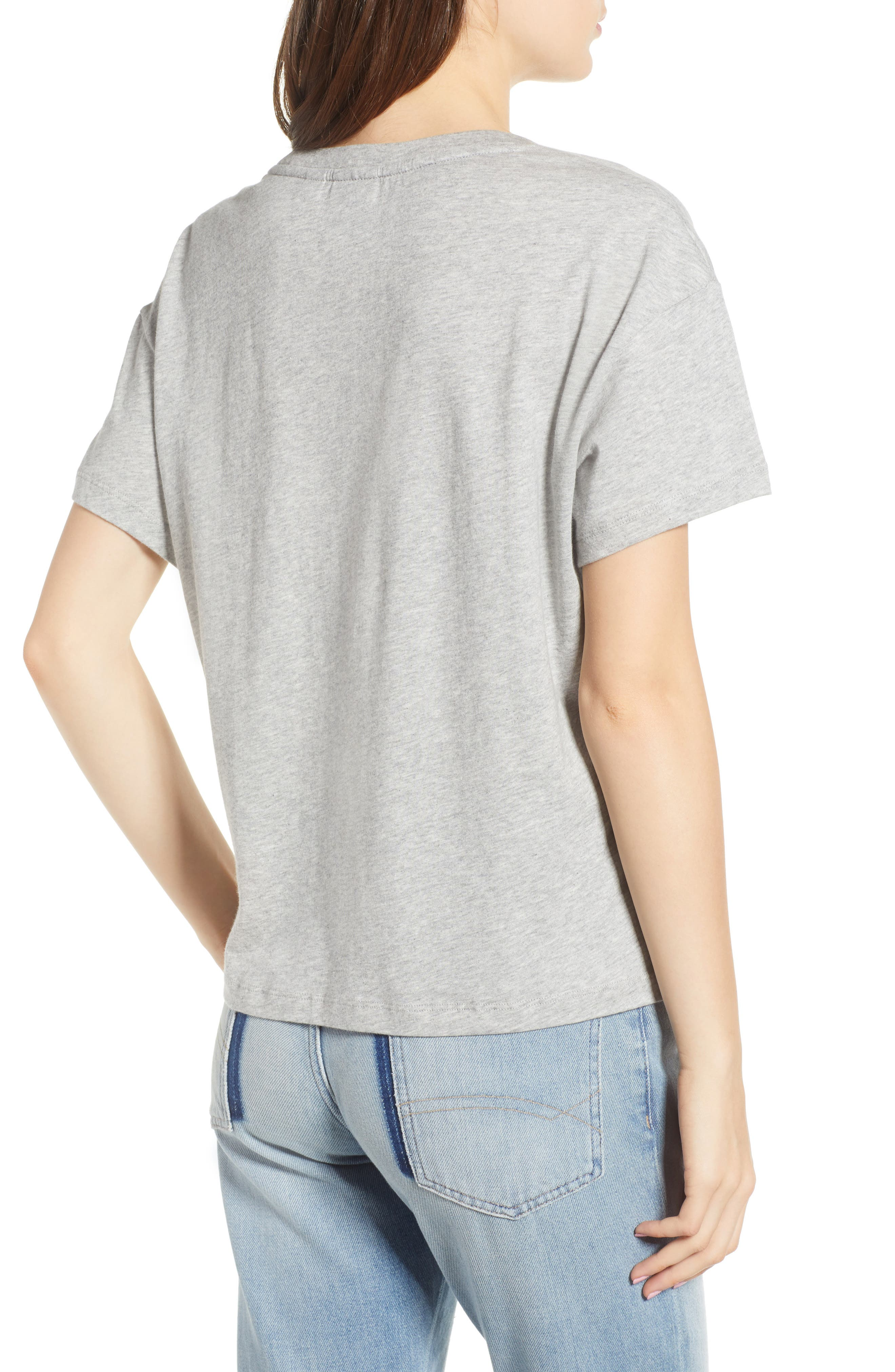 Velvet Logo Tee,                             Alternate thumbnail 2, color,                             Grey Marl