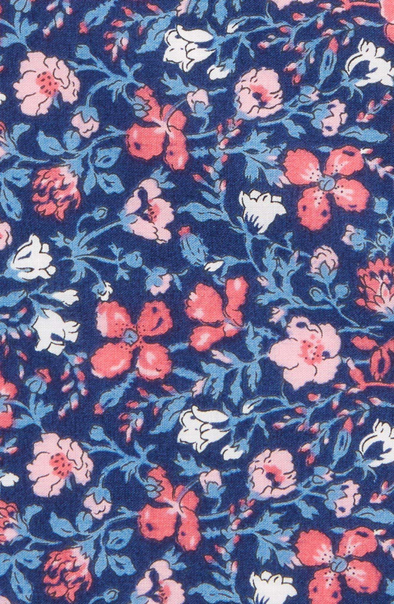Mixed Berries Cotton Pocket Square,                             Alternate thumbnail 3, color,                             Blue