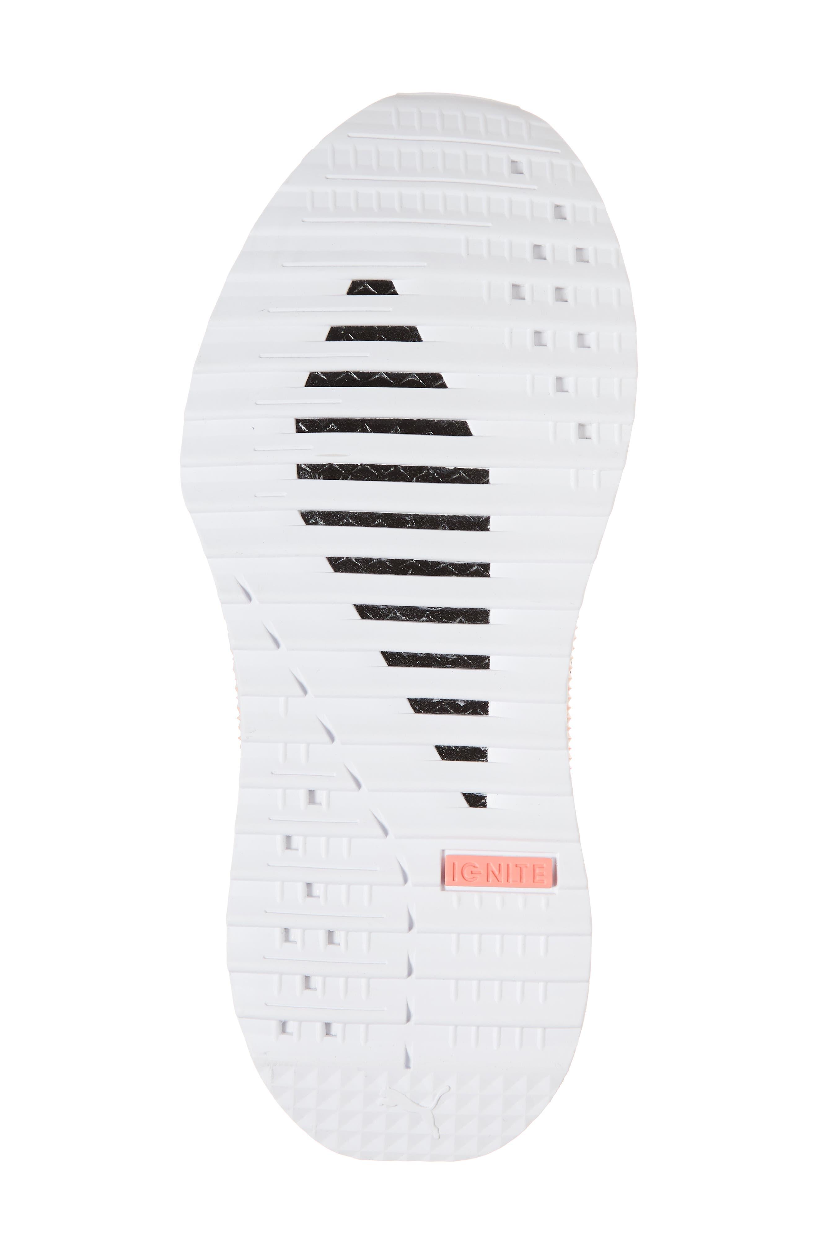 Tsugi Netfit evoKNIT Training Shoe,                             Alternate thumbnail 6, color,                             Black/ Shell Pink/ White